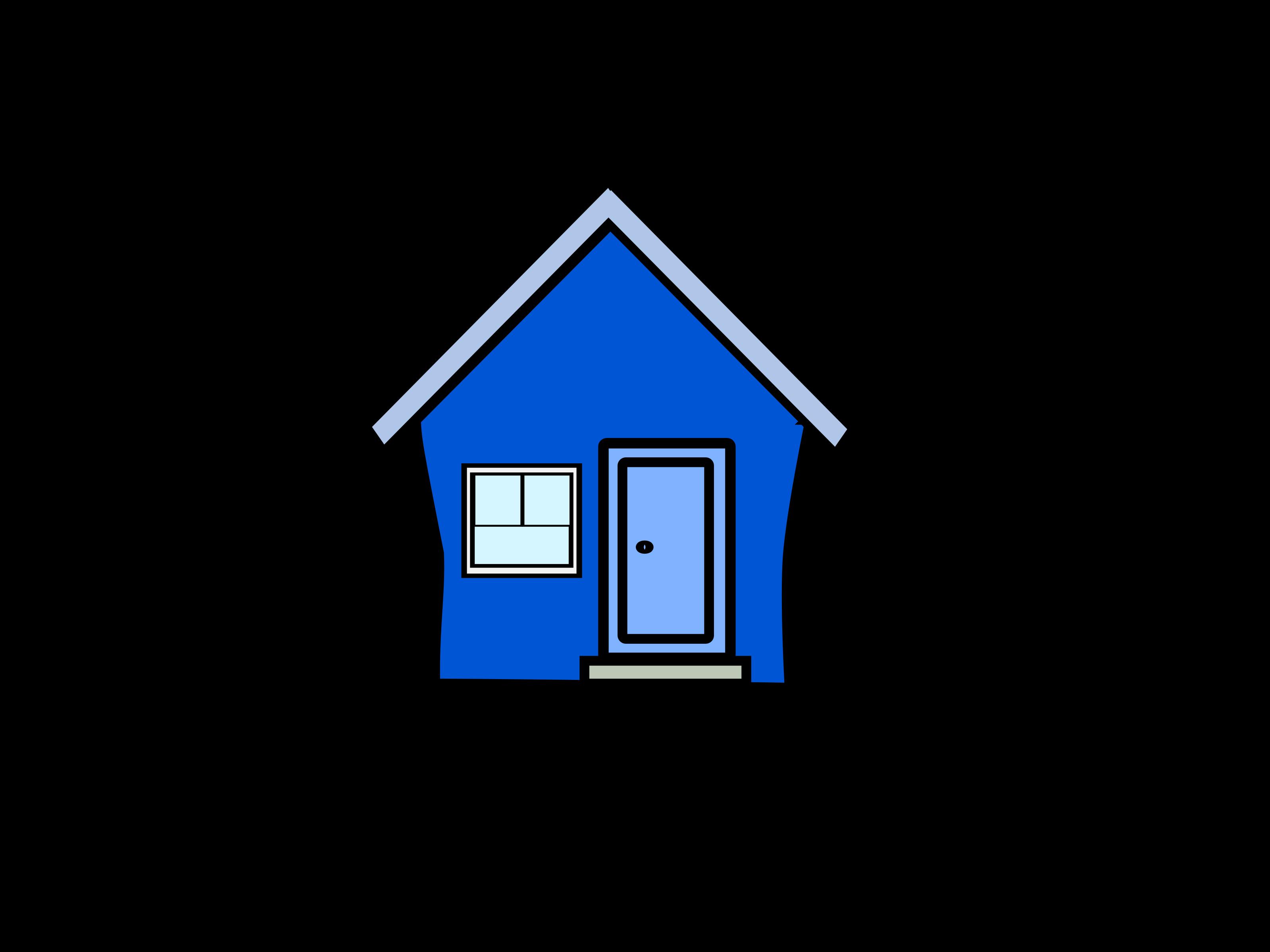 clip art blue house - photo #35