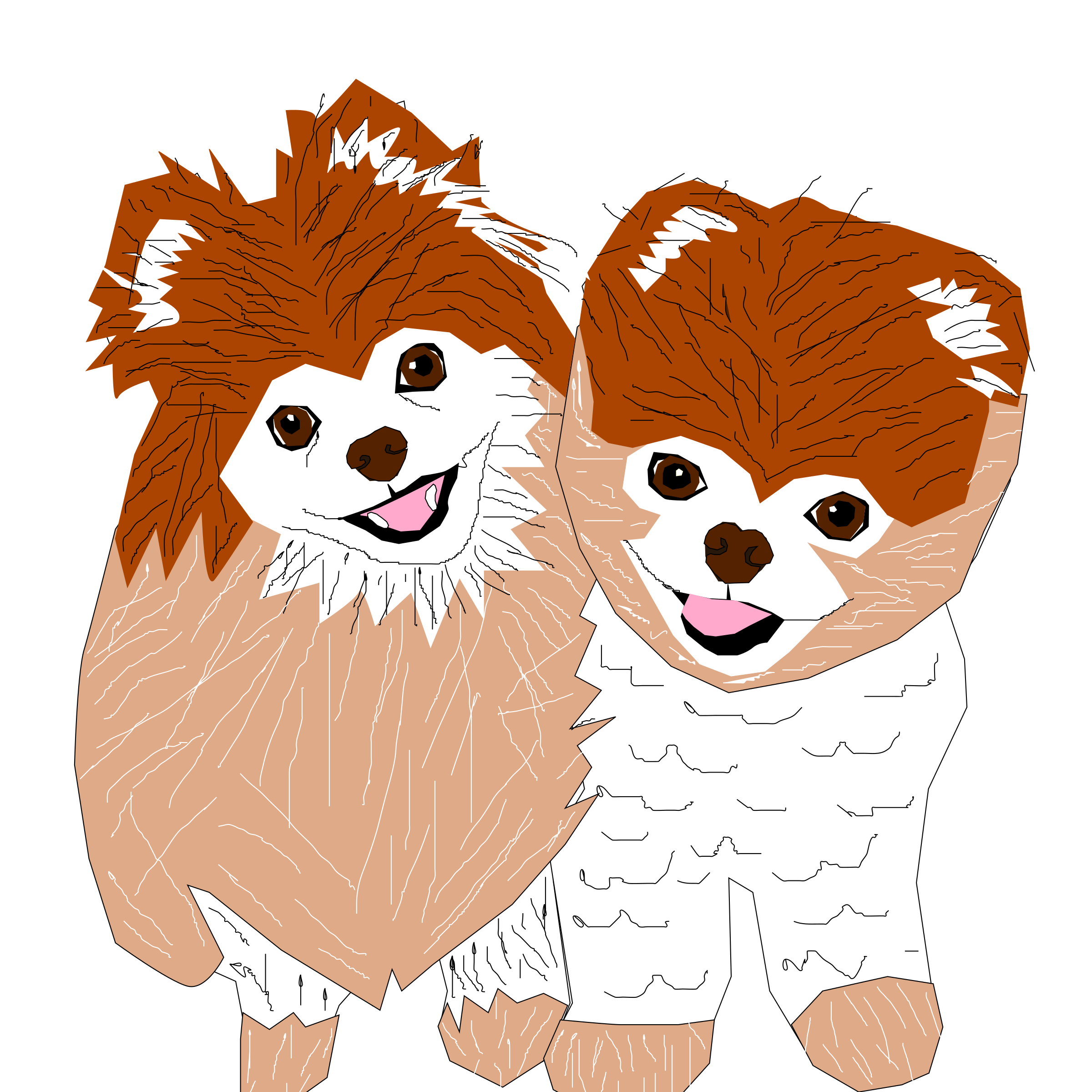 Clipart - Buddy and Boo