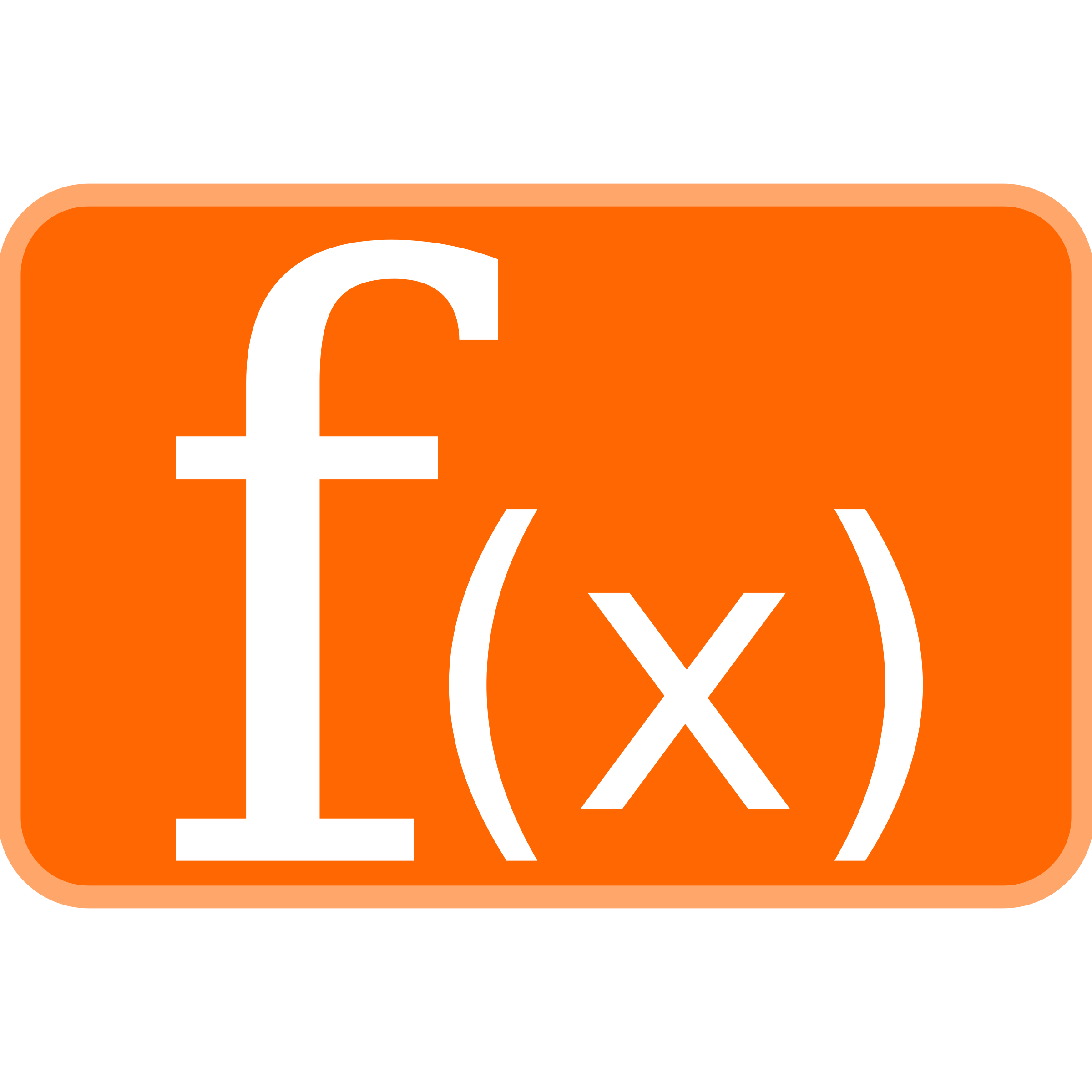 Orange Function Icon 2 by aztlek