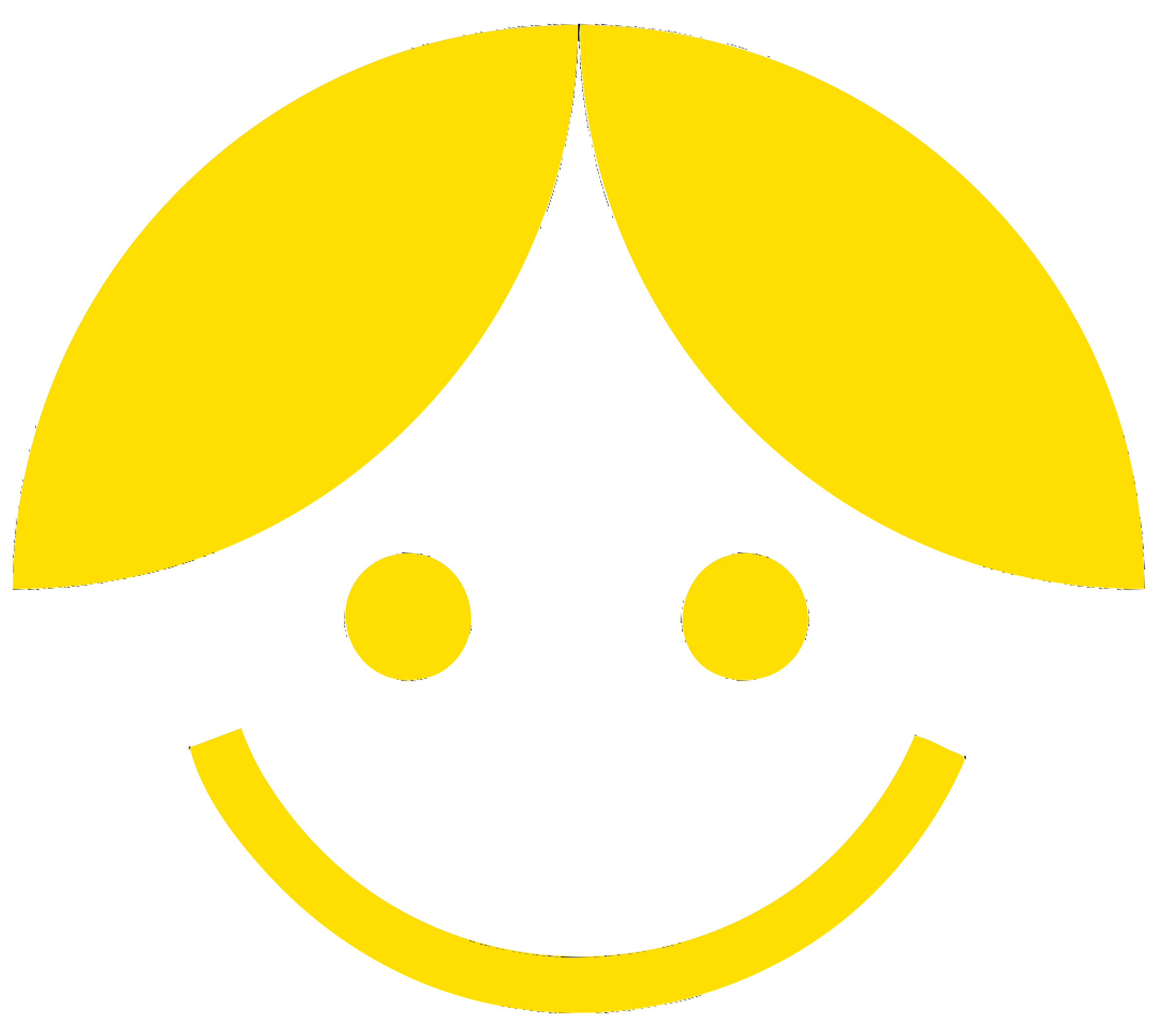 Clipart - Yellow Cartoon Girl-Boy
