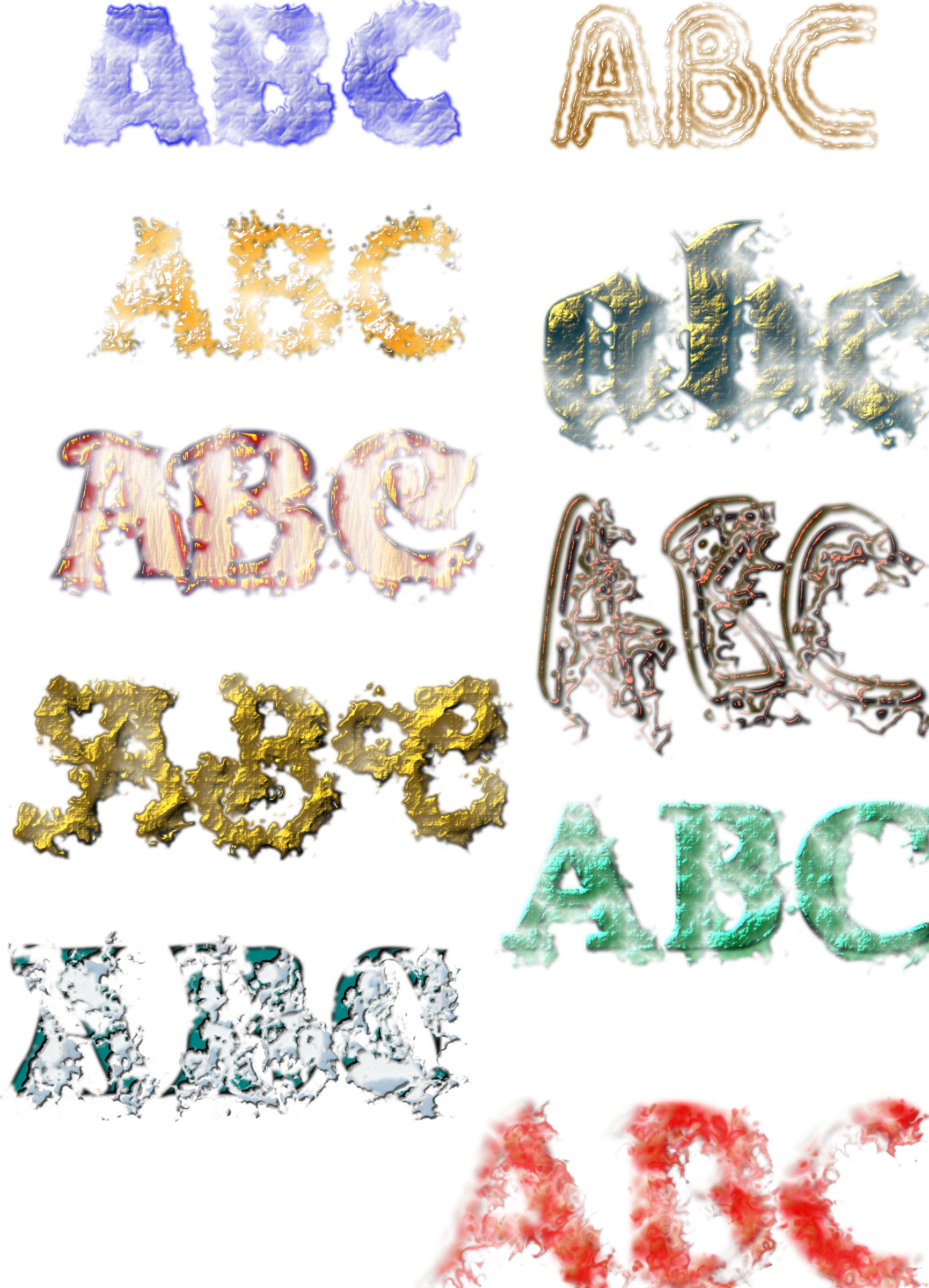 Ten Text Textures by ivan_louette