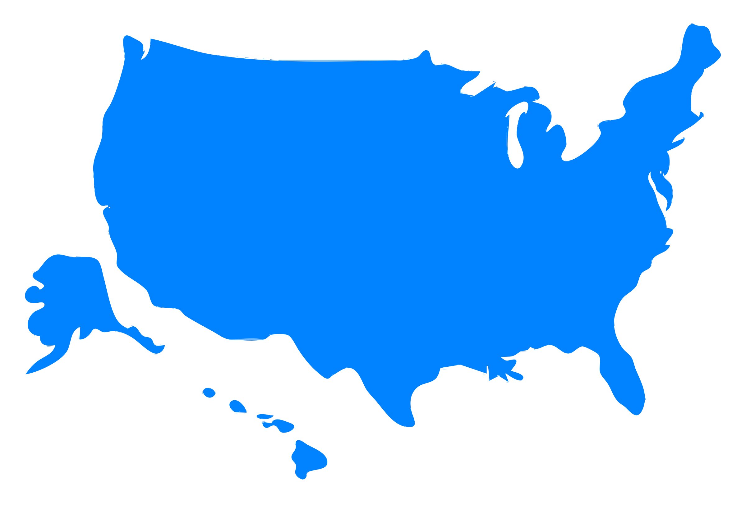 Clipart USA Map Silhouette - Usa map picture