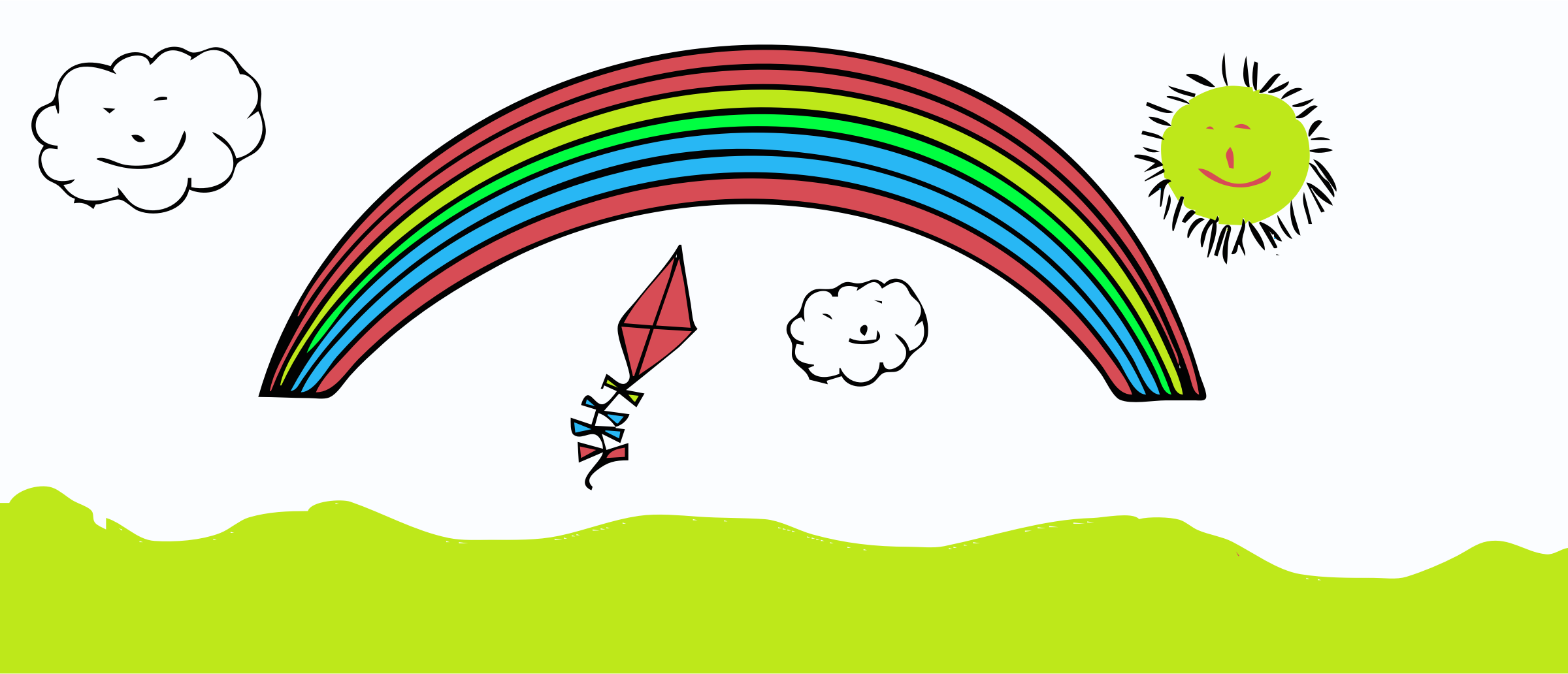 Rainbow Cartoon Png Happy Rainbow Cartoon