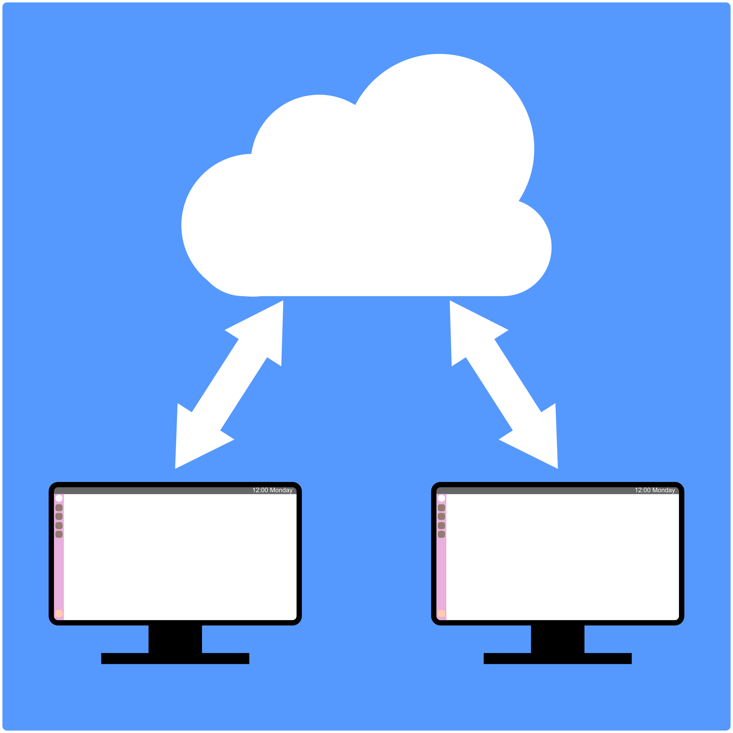 Computers sharing with cloud by Dustwin