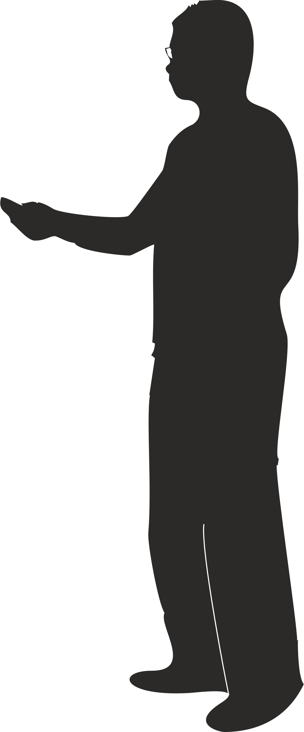 Male silhouette presenting or pointing by pnx