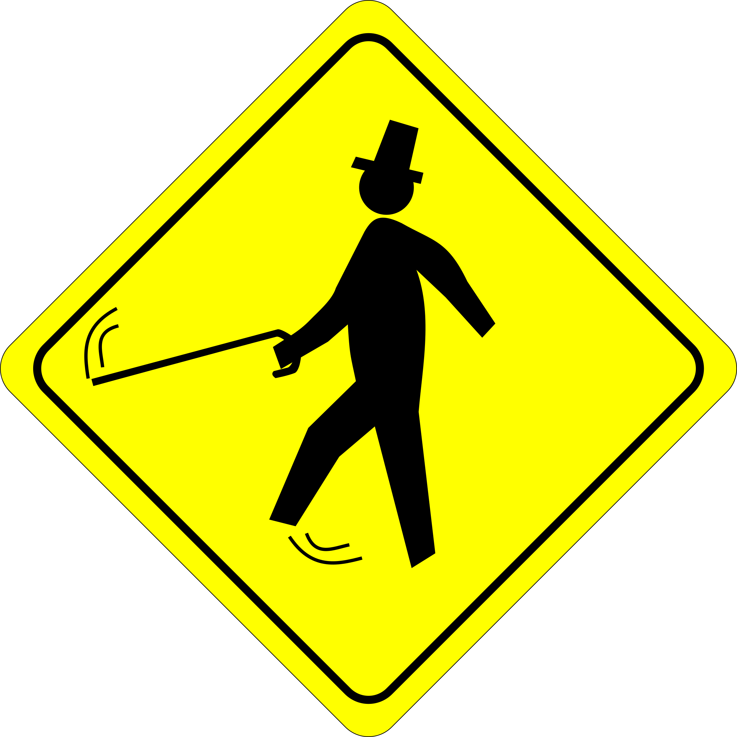 Jaunty Pedestrian (Caution) by algotruneman