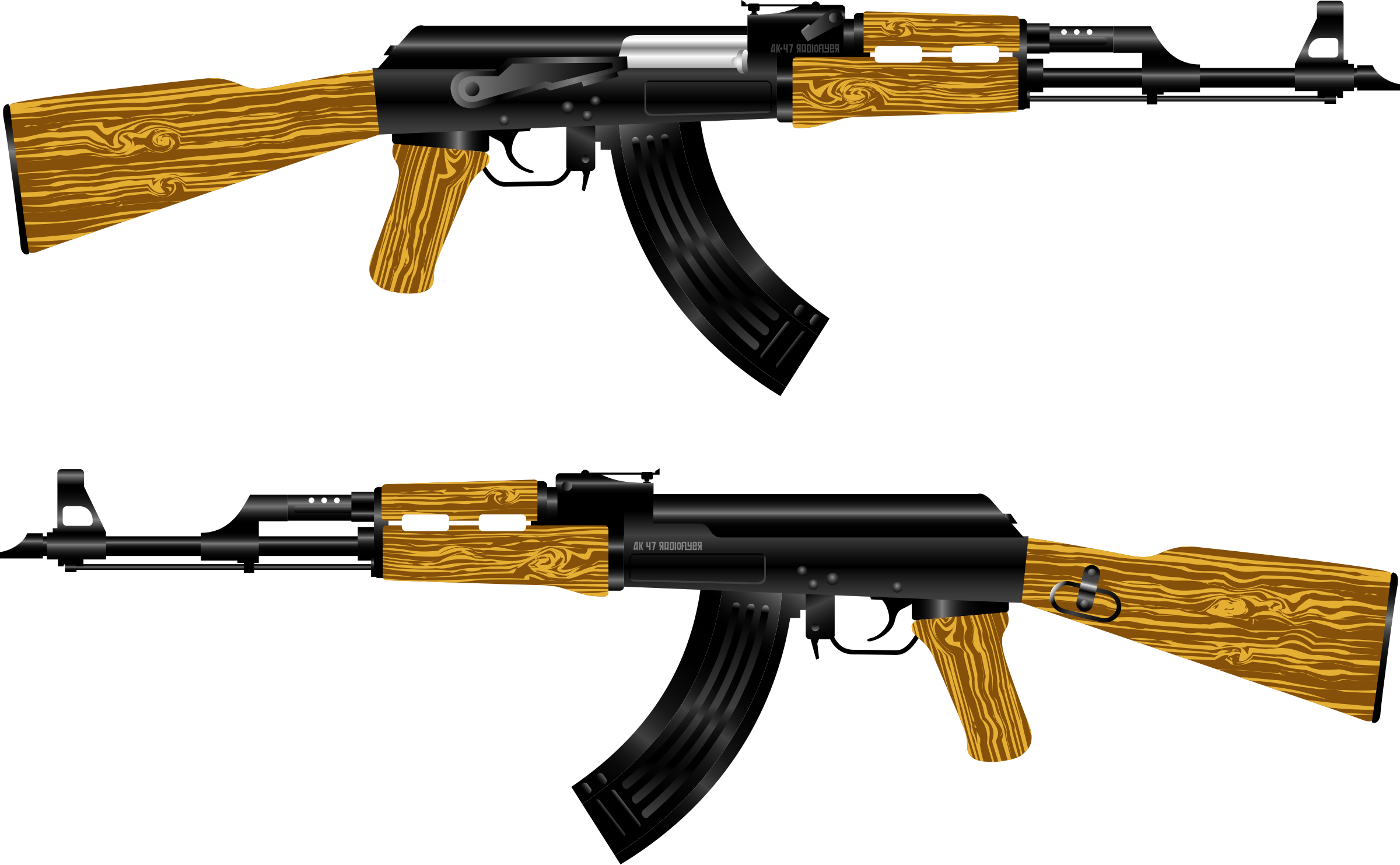 AK 47 Rifle by radioflyer