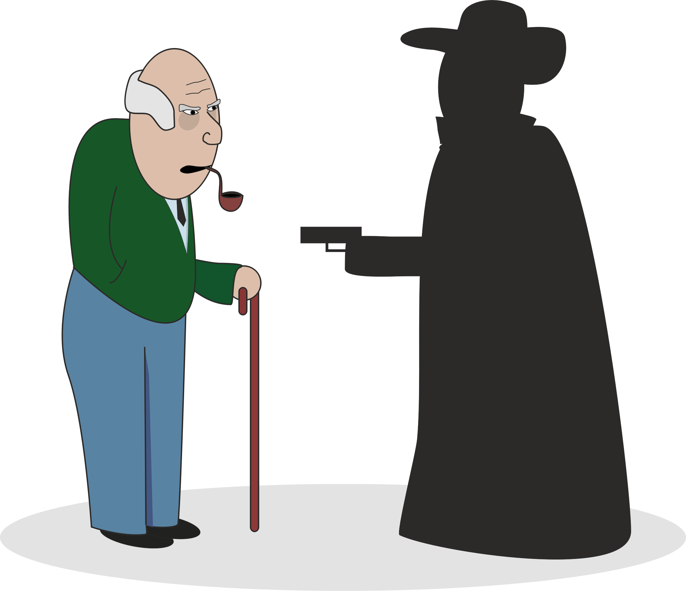 Grandpa with robber by pnx