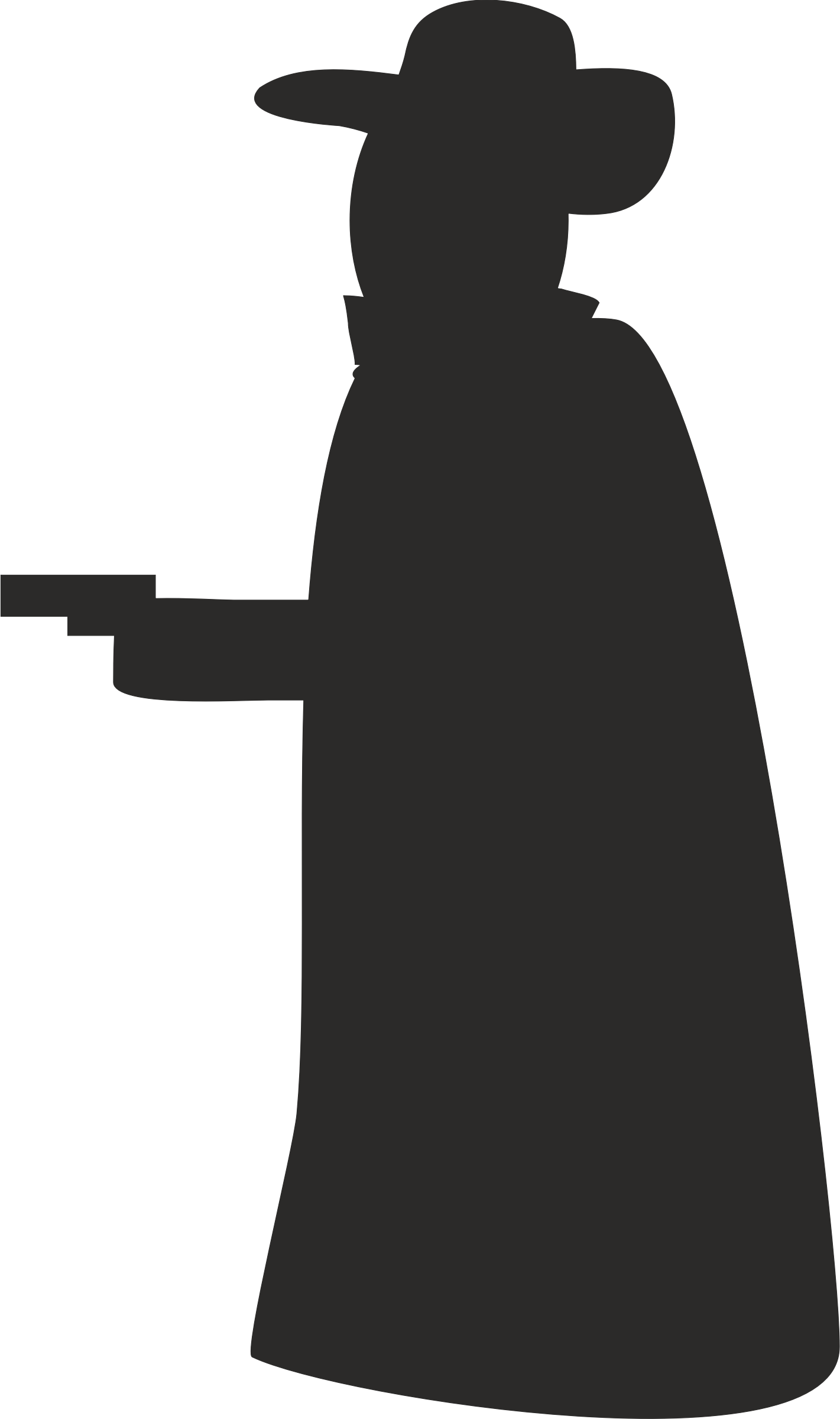 Robber with gun silhouette by pnx