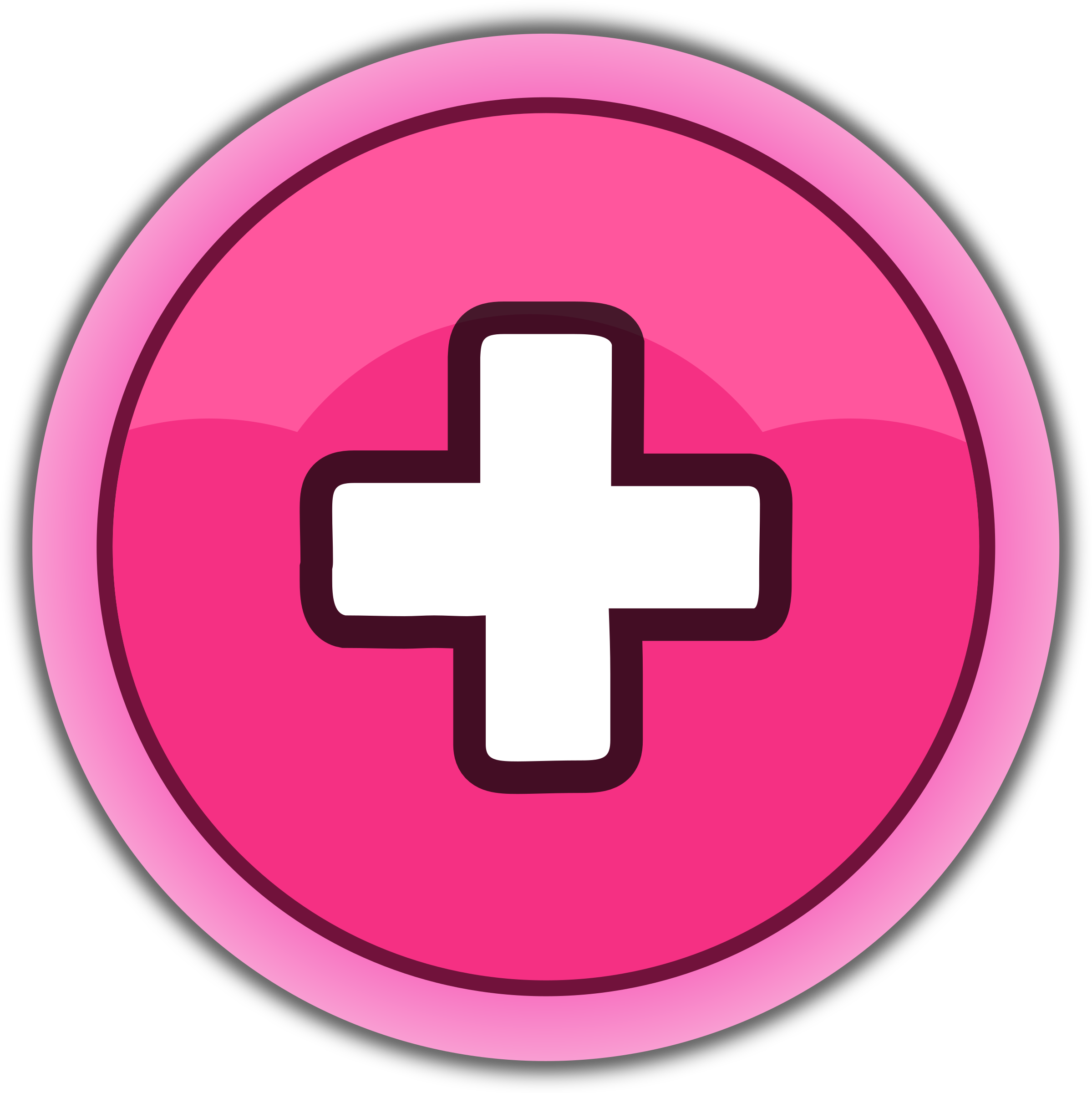 pink button plus by qubodup