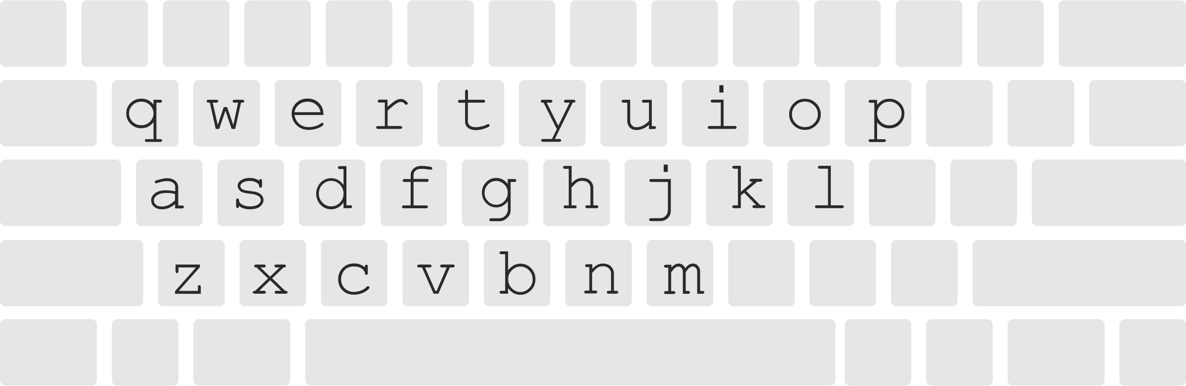 Keyboard layout with letters by pnx