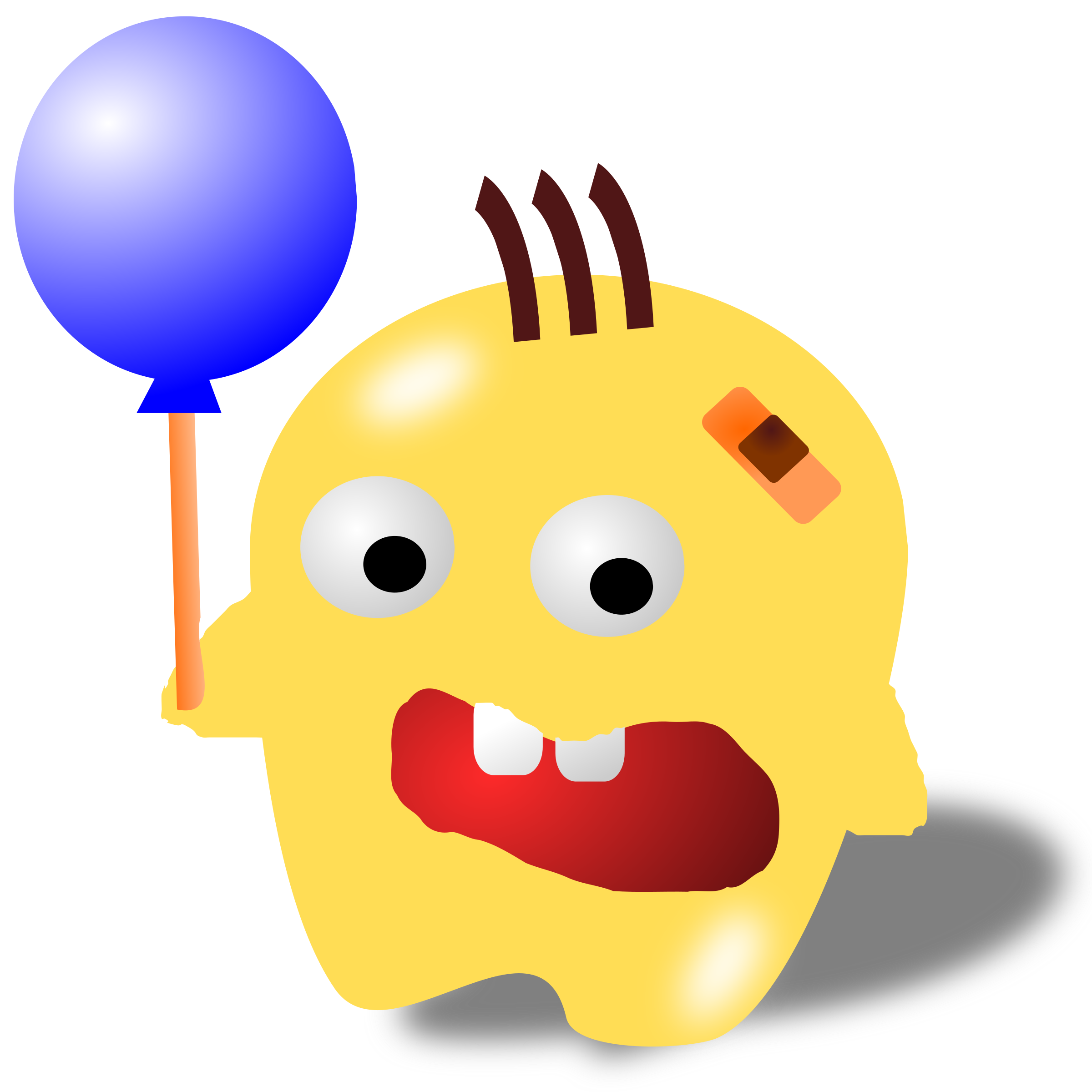 monster with a balloon by yenlung
