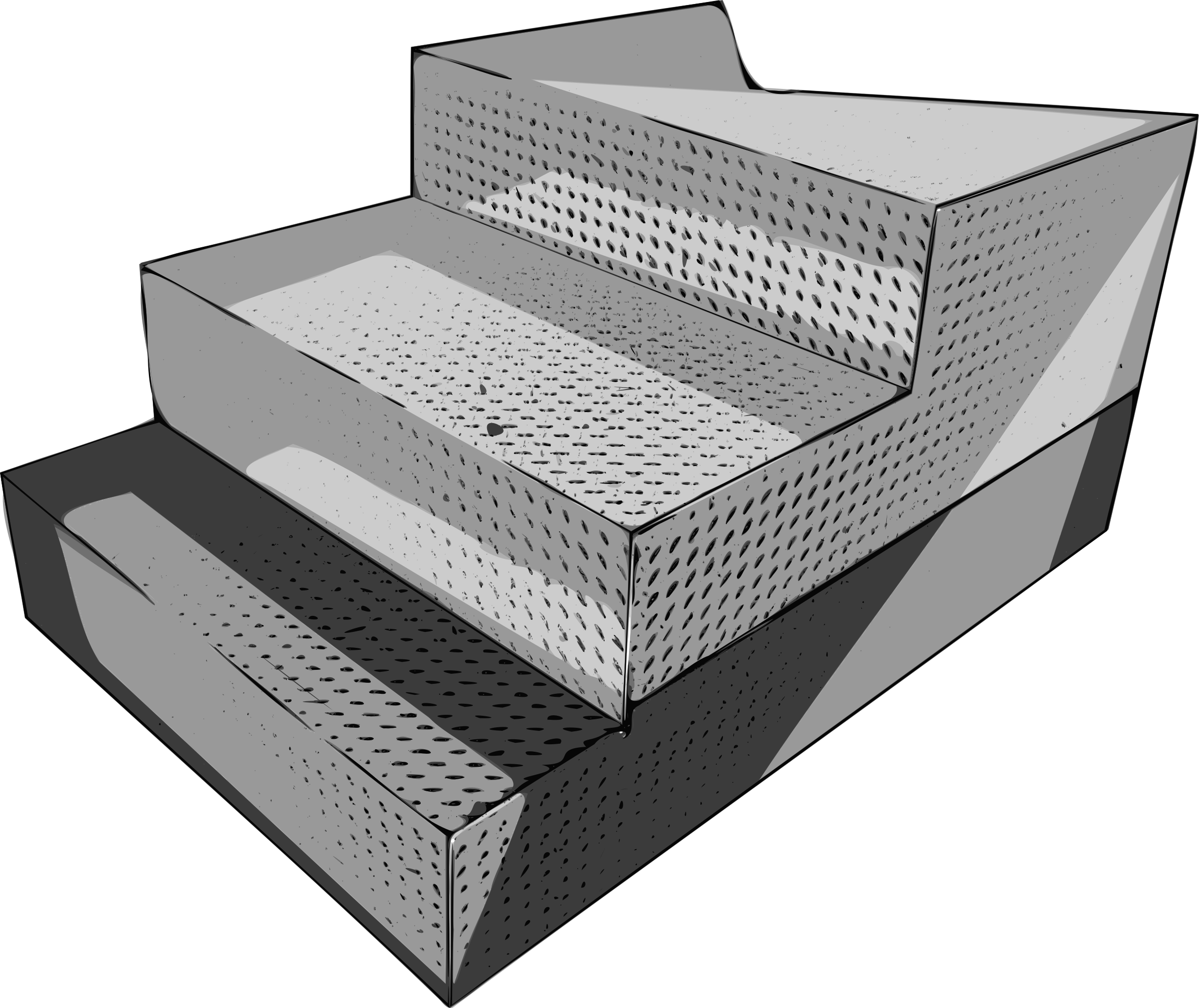 Diamond Pattern Steel Arena Steps by jpneok