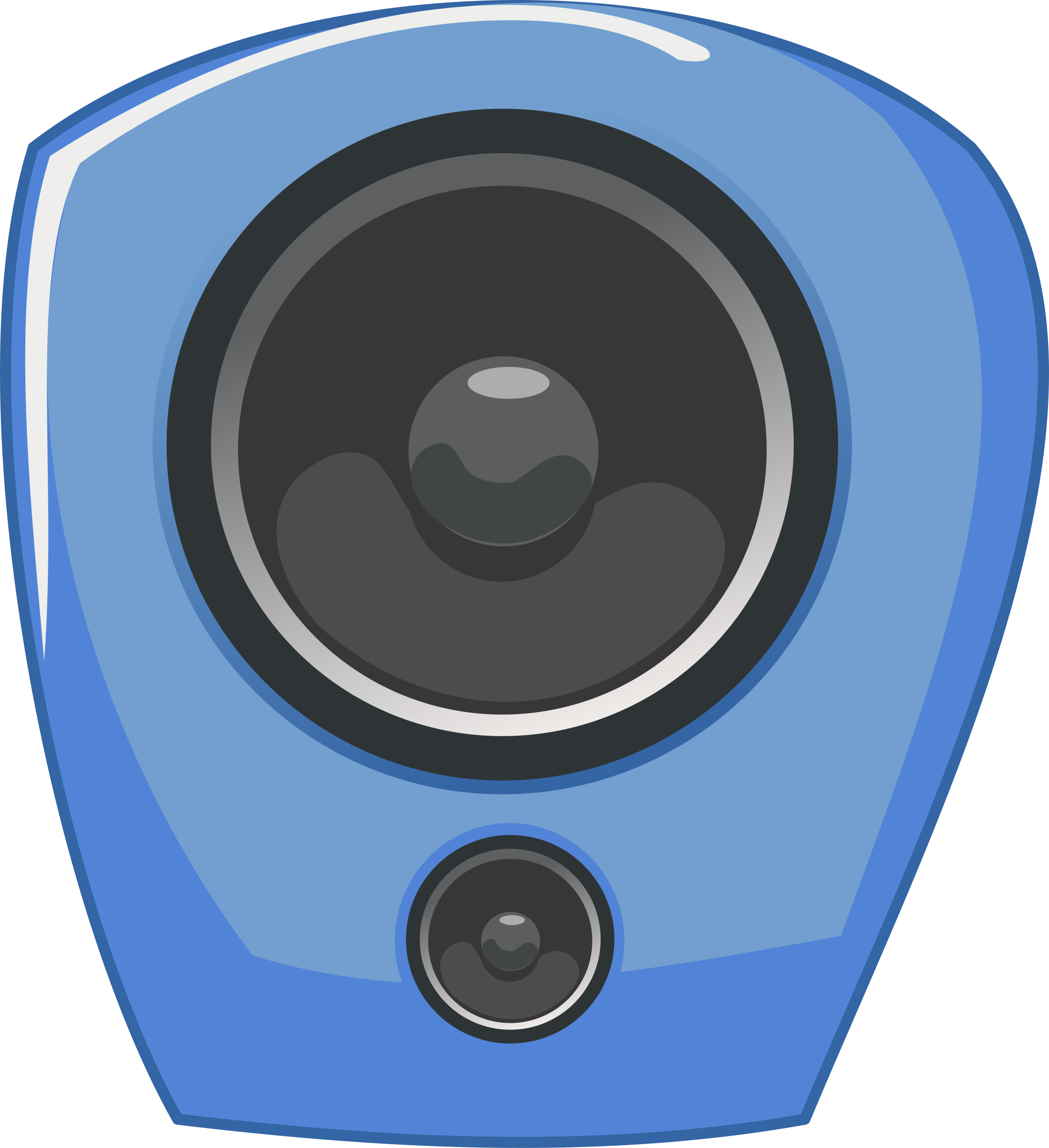 loudspeaker in comic style by rg1024
