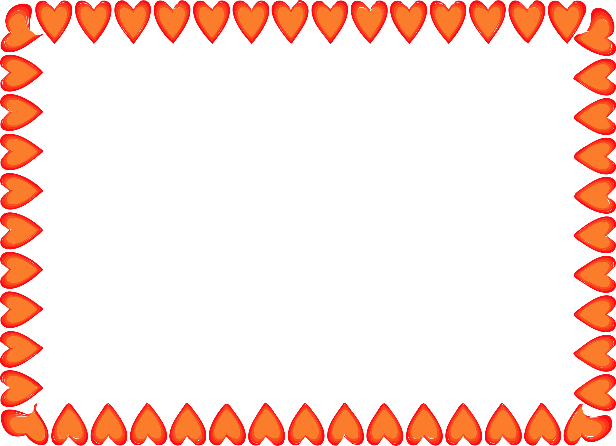 Red Hearts Border by IslandVibz
