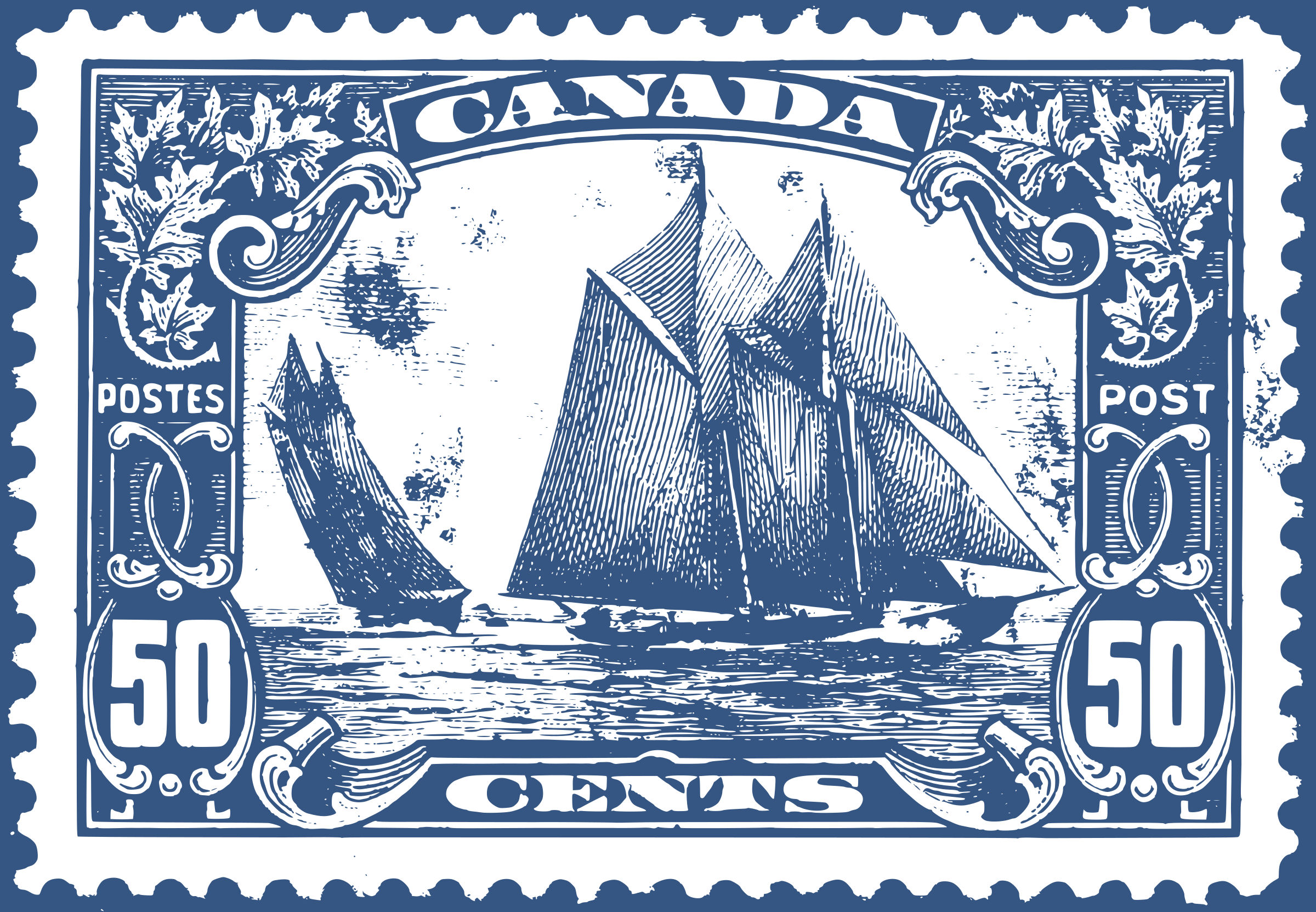 Bluenose canadian stamp by bf5man