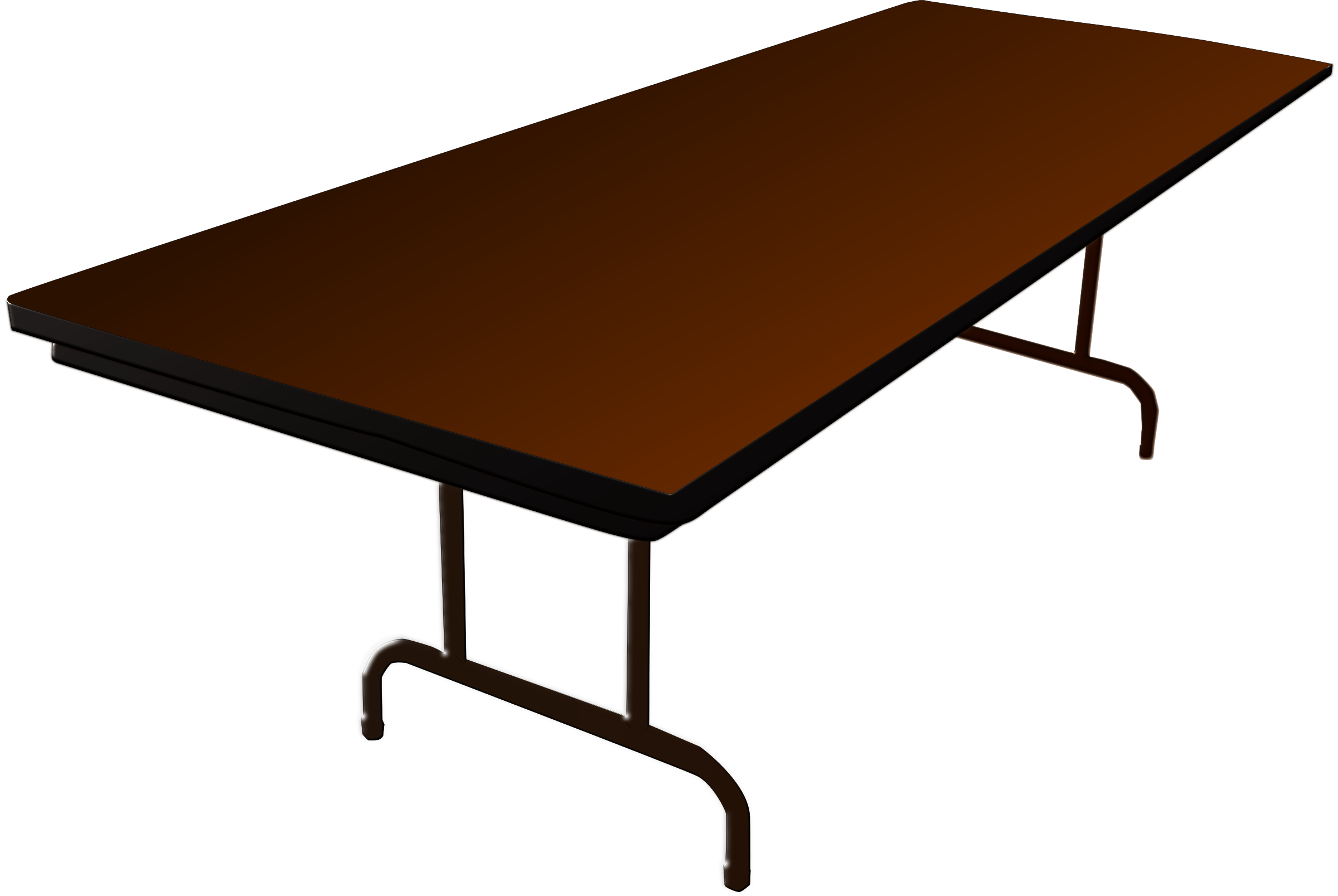 Clipart folding table for Set de table transparent