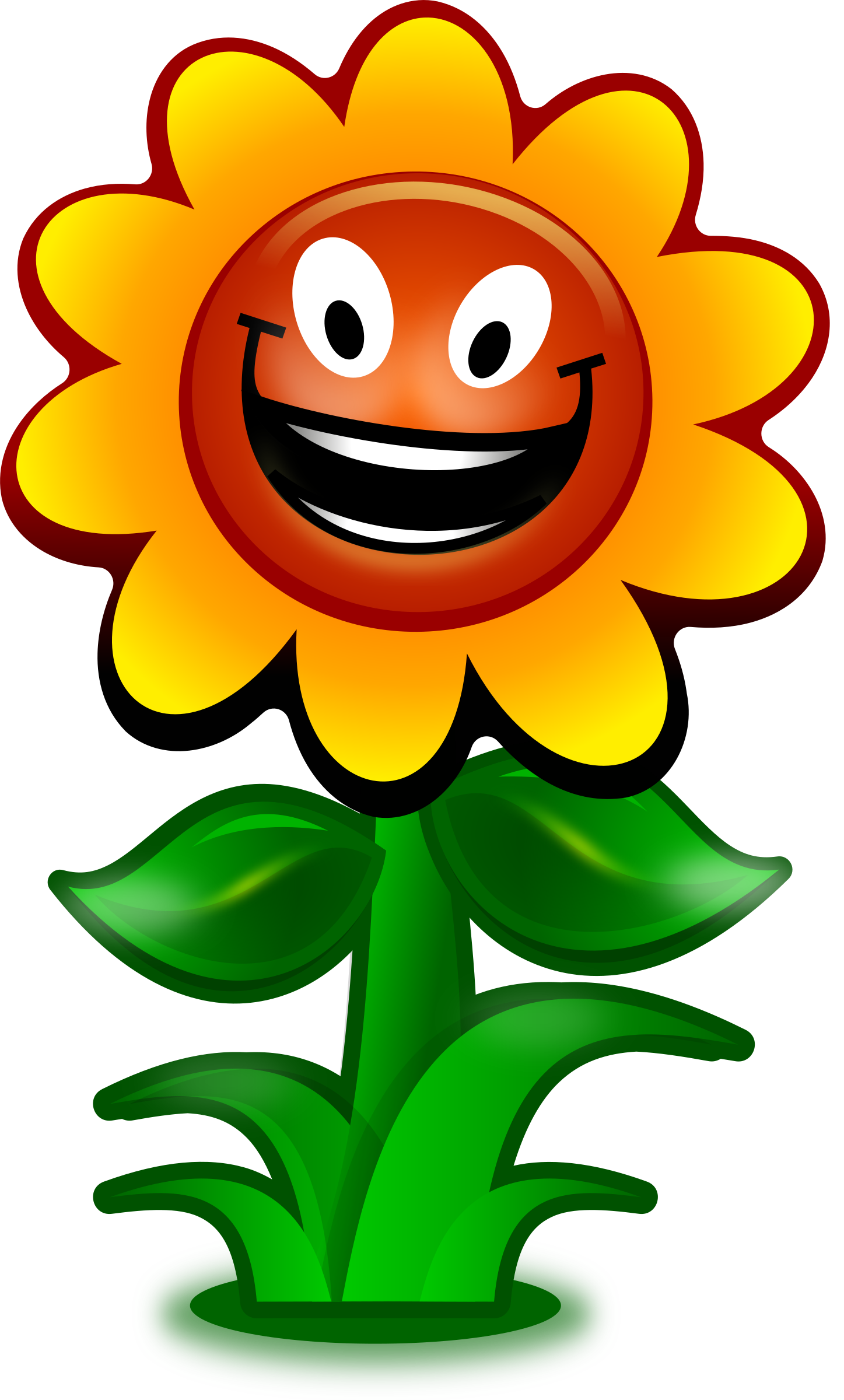 cartoon flower game character