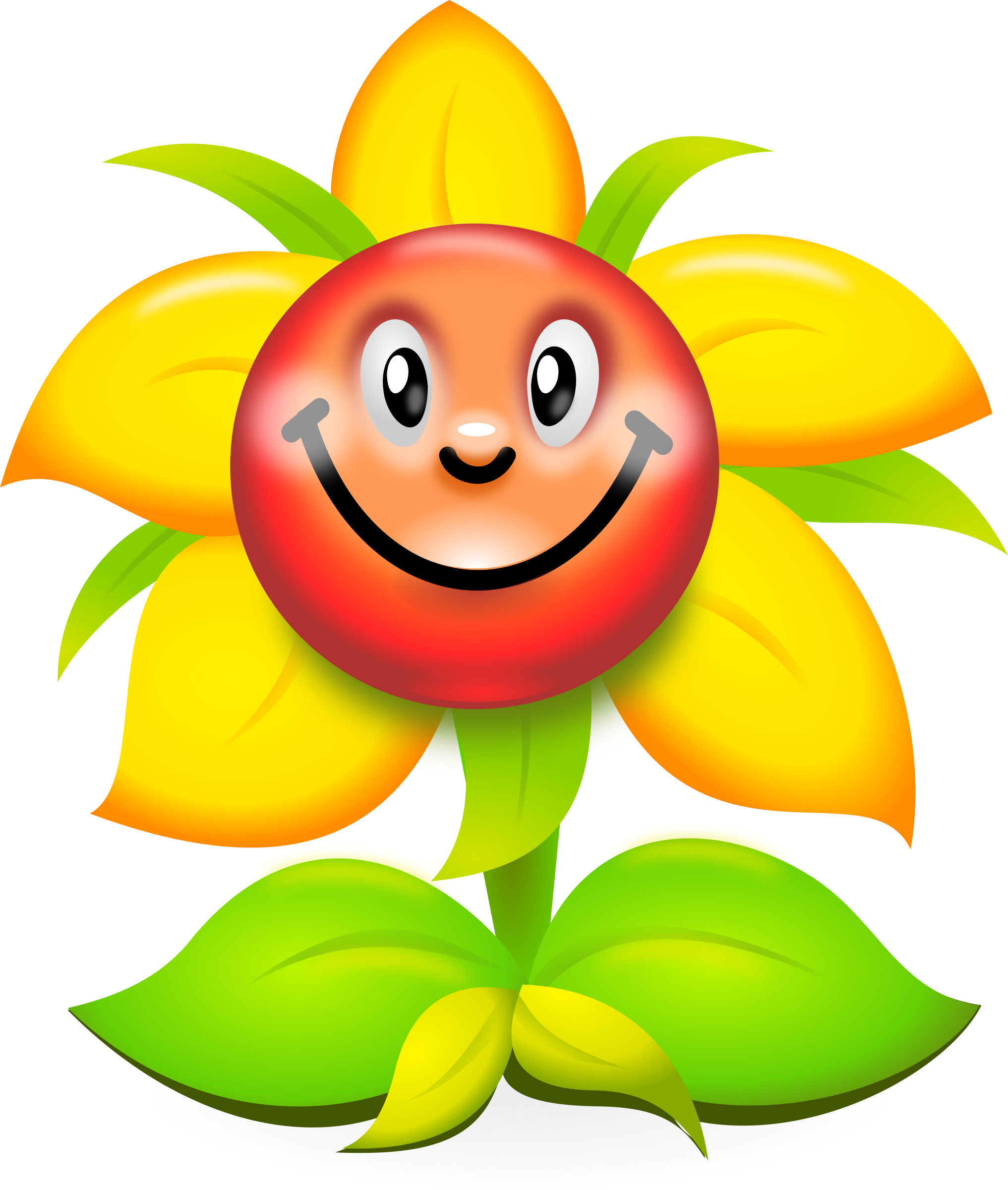 Clipart - Funny Yellow Flower Character - superb ...