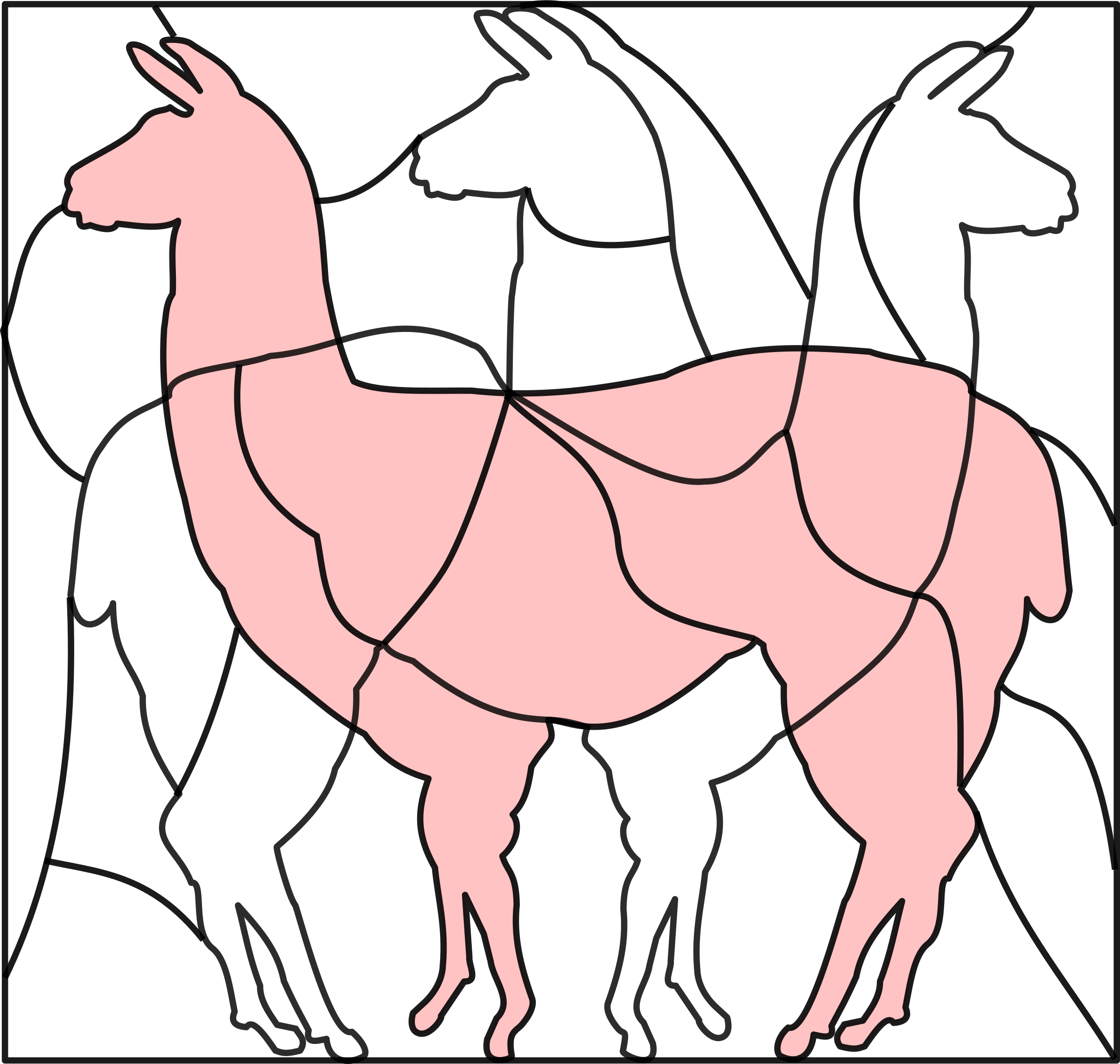 puzzle picture llama by frankes