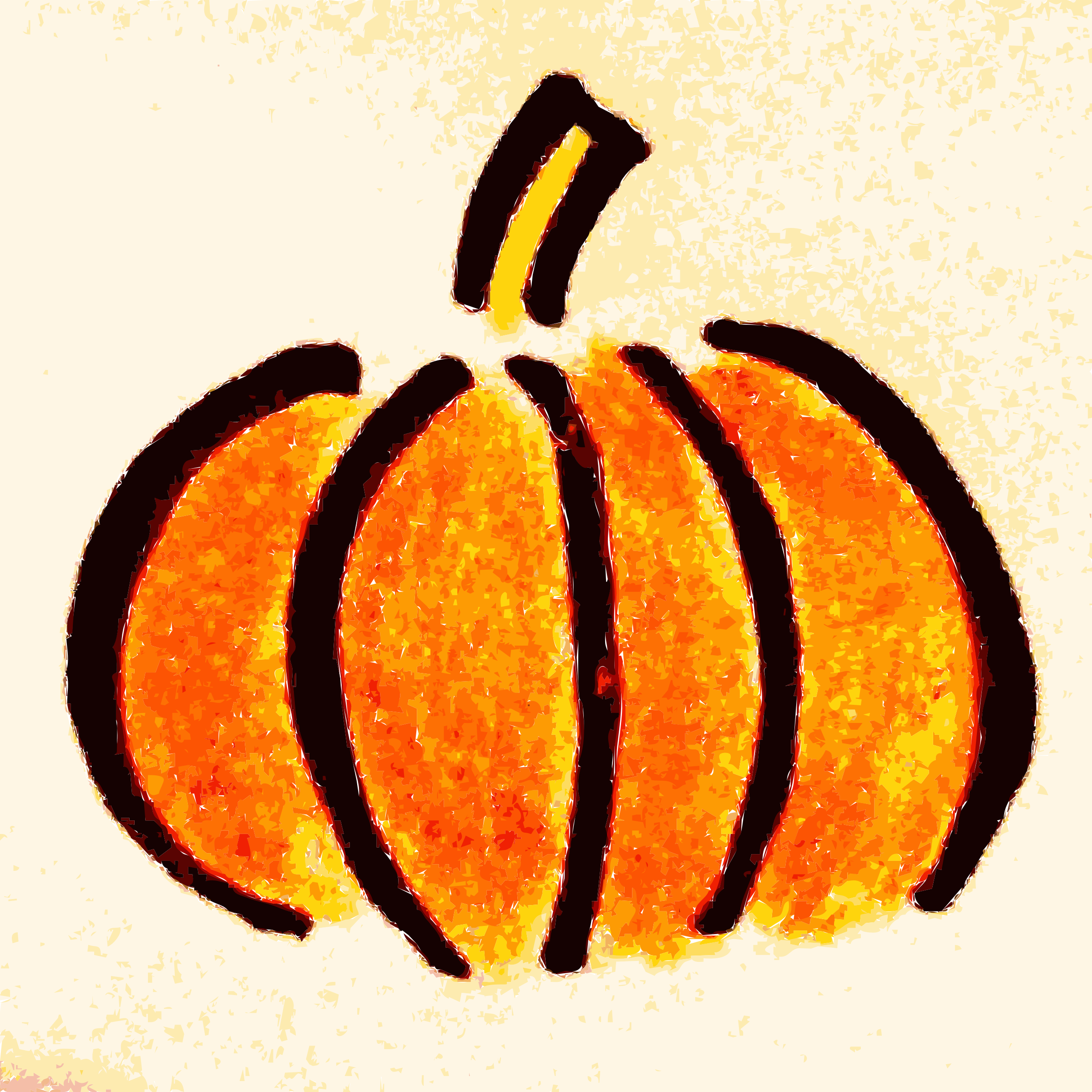 Hand drawn Pumpkin Clipart by wallpapergirl