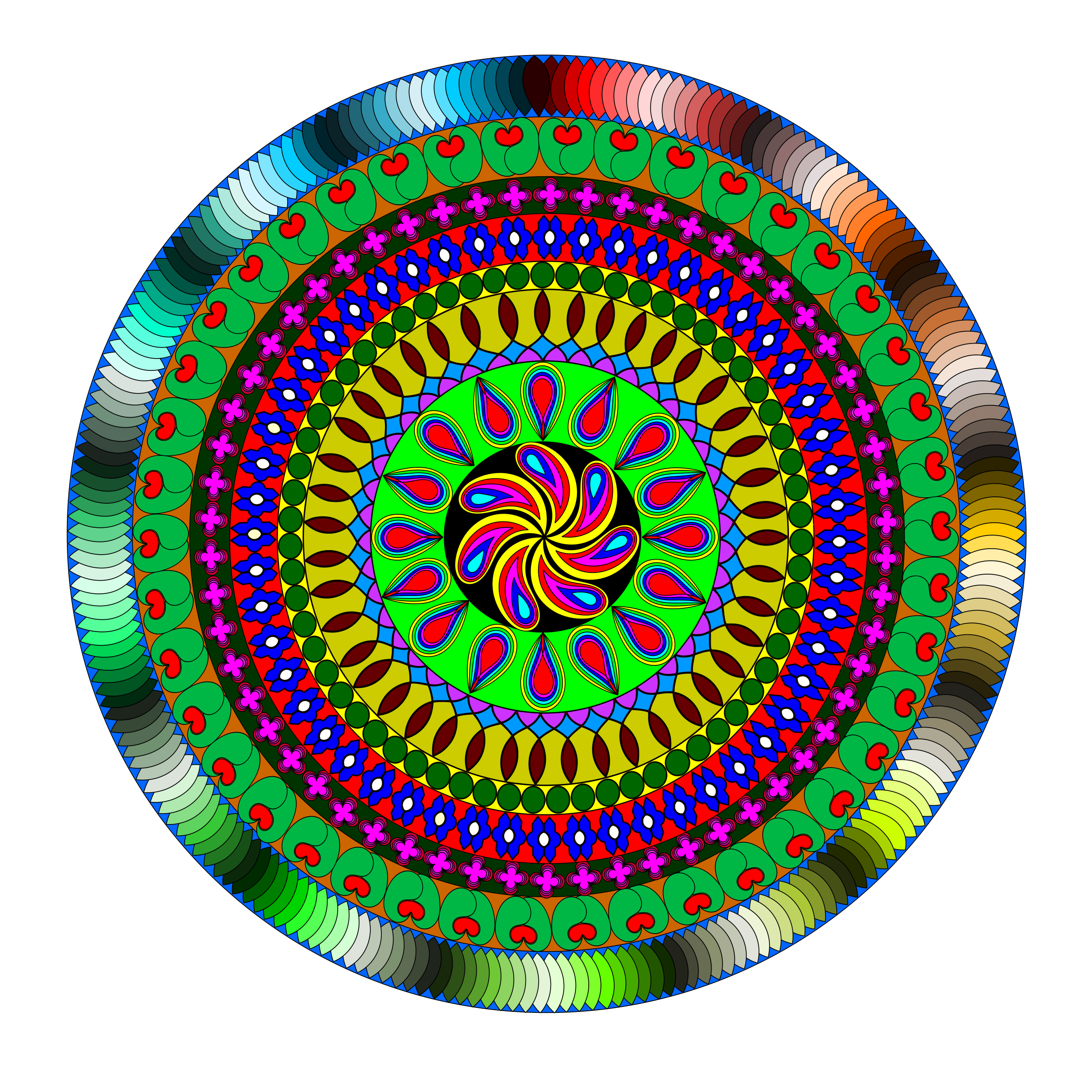 Colourful Mandala by Siddymcbill