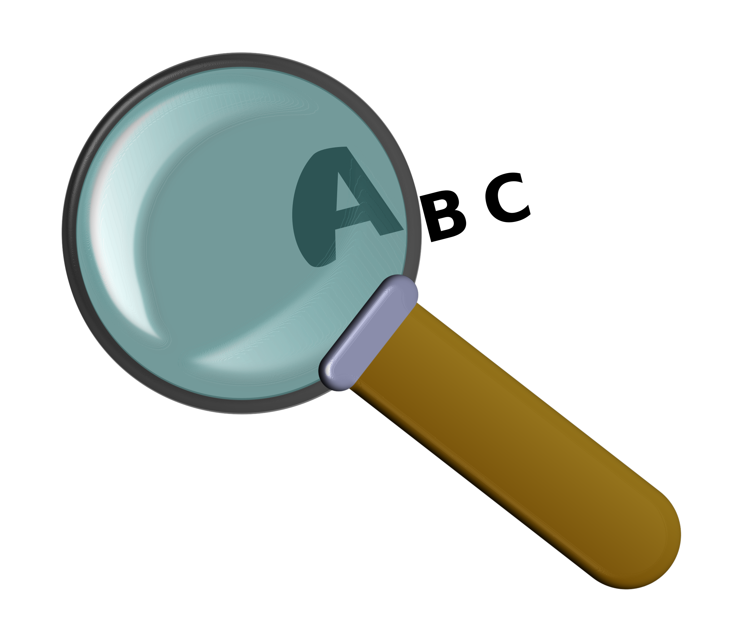 Magnifier, ABC, letters by dacr