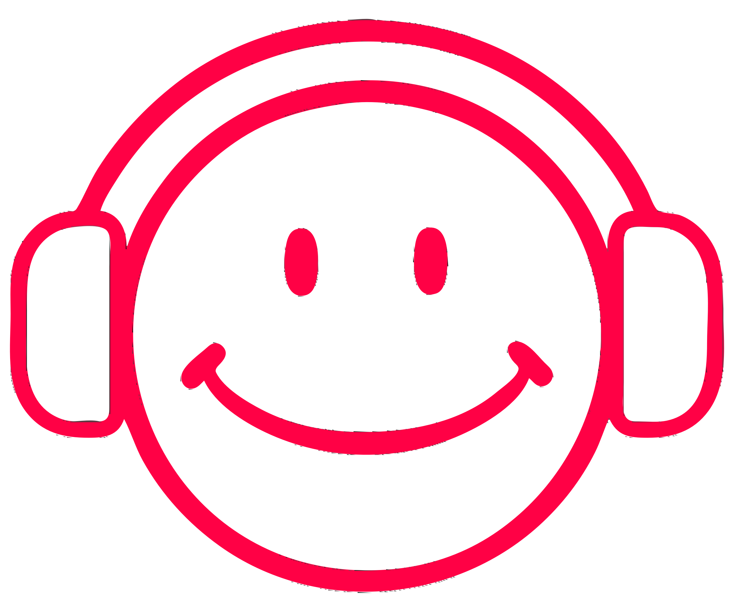 Cartoon Smiley With Headphones by pasm6634955