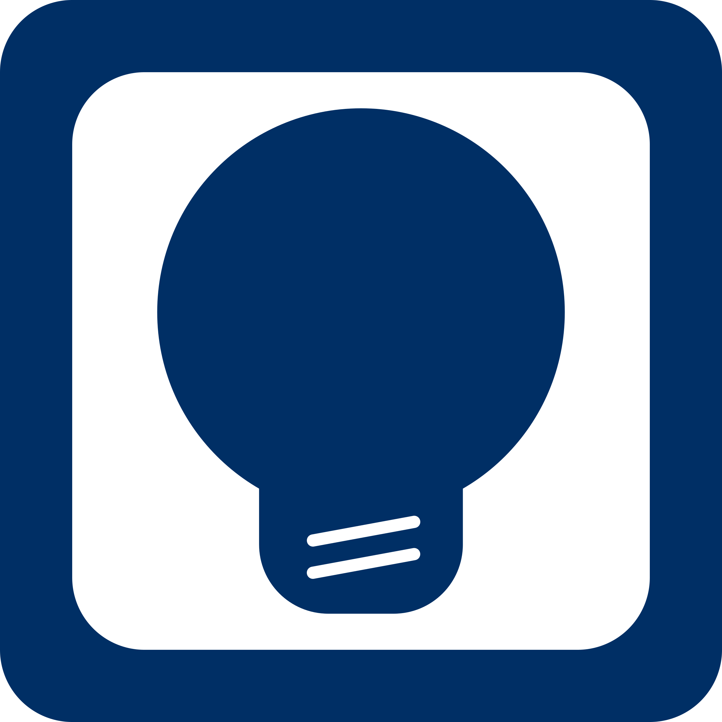 Blue Bulb Icon by LeonH