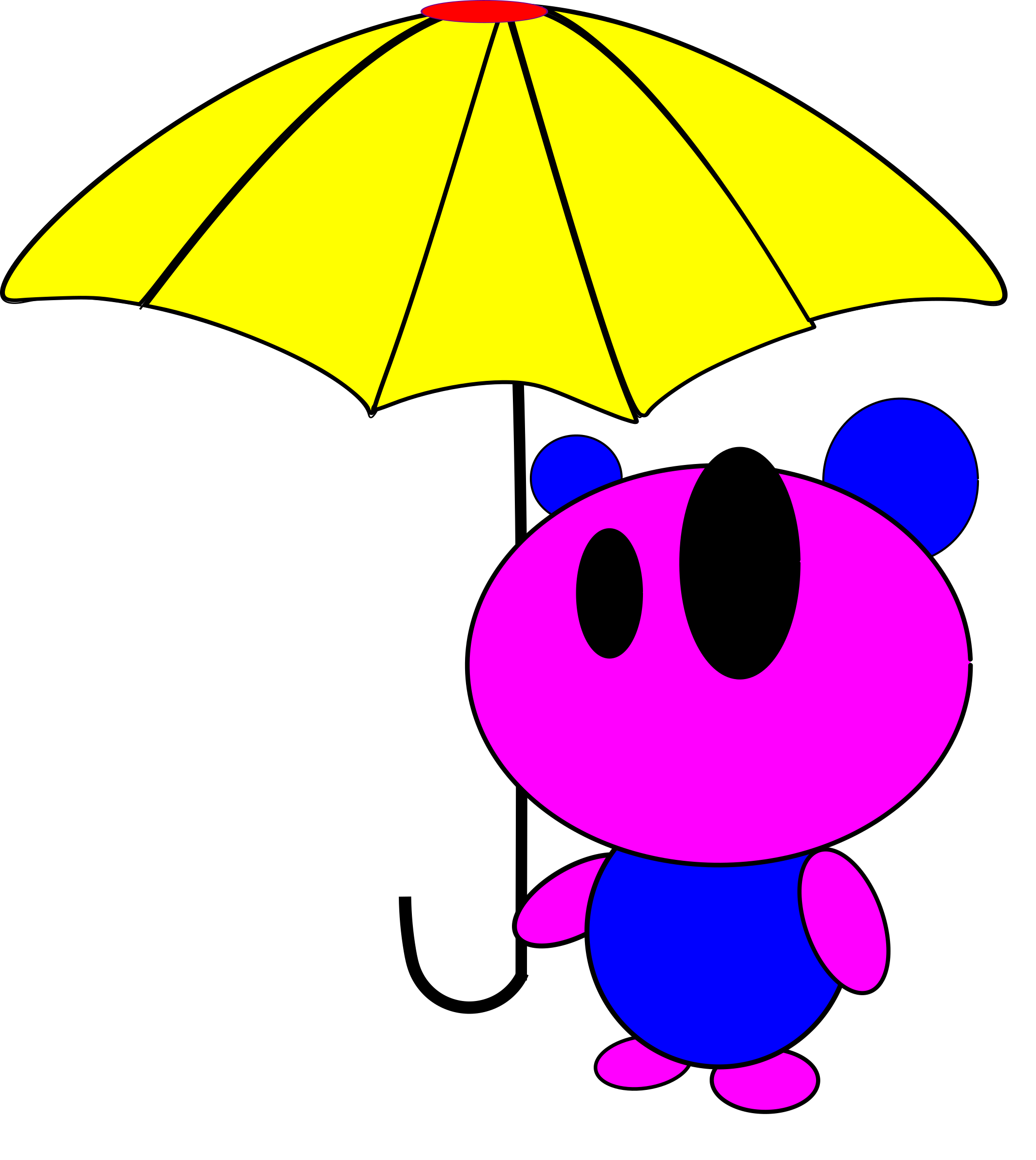 bear with umbrella by lkamming