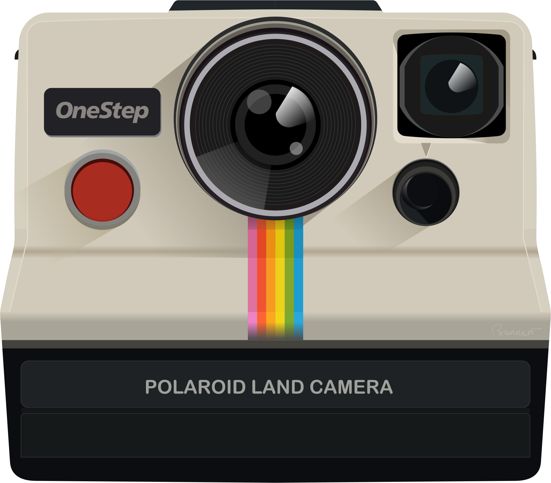 Clipart - Polaroid 1000 Land Camera OneStep