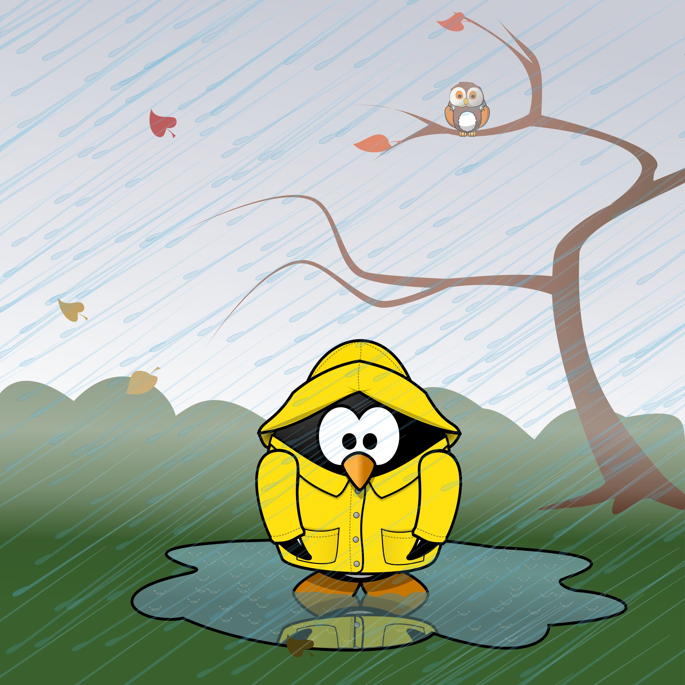 November calendar page: Weather-proofing by Moini