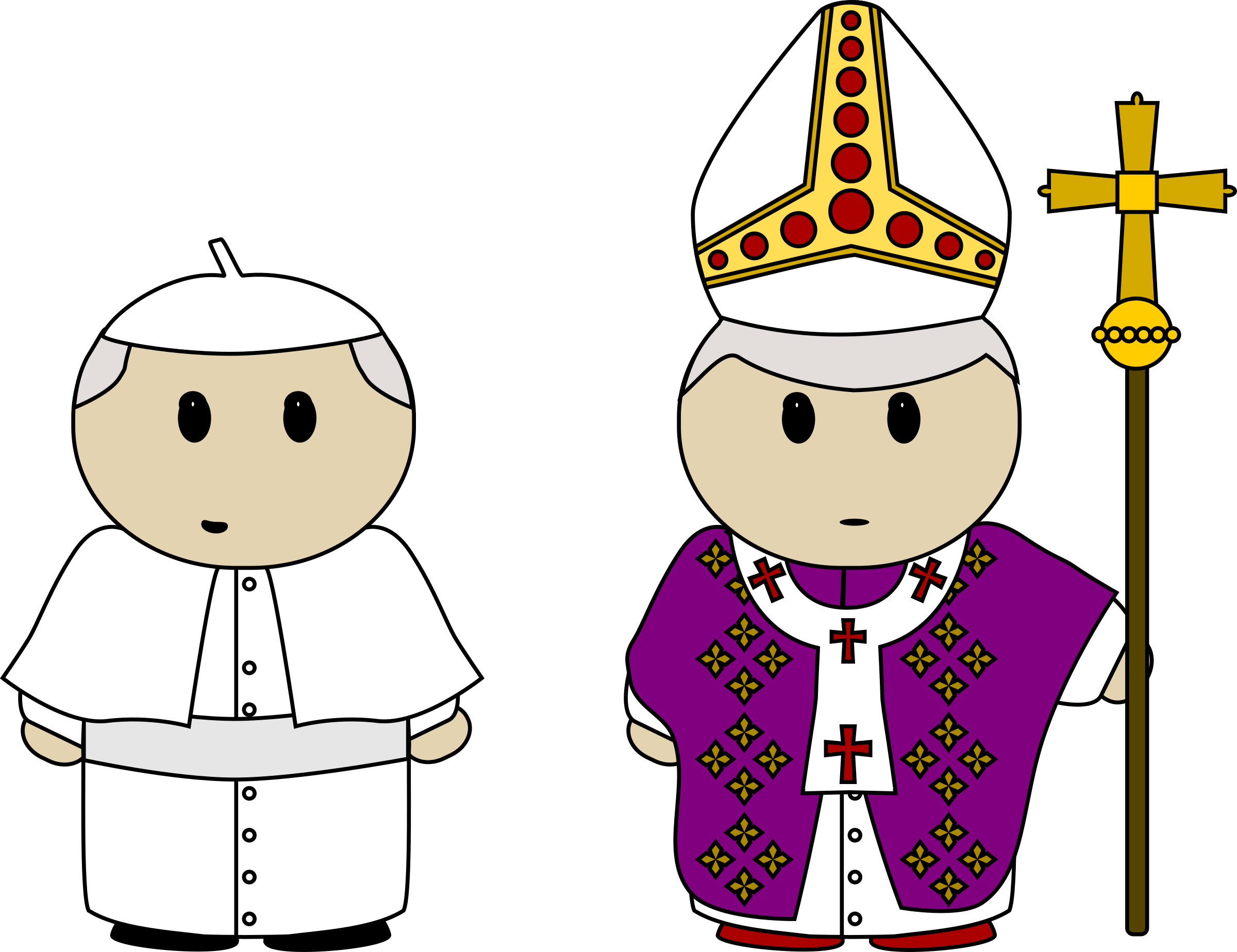 Clipart - Pope clothes
