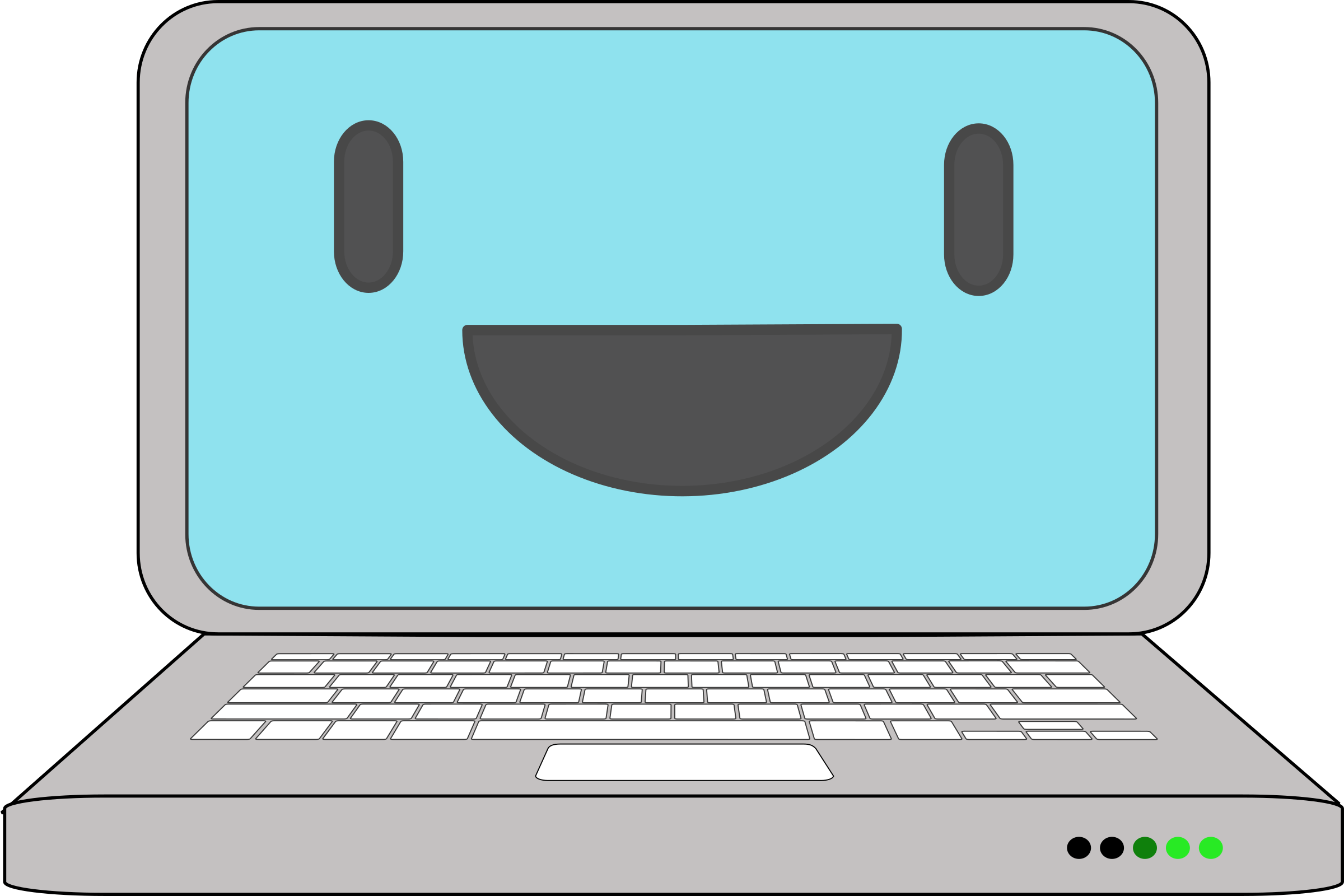 Happy Computer Laptop by qubodup