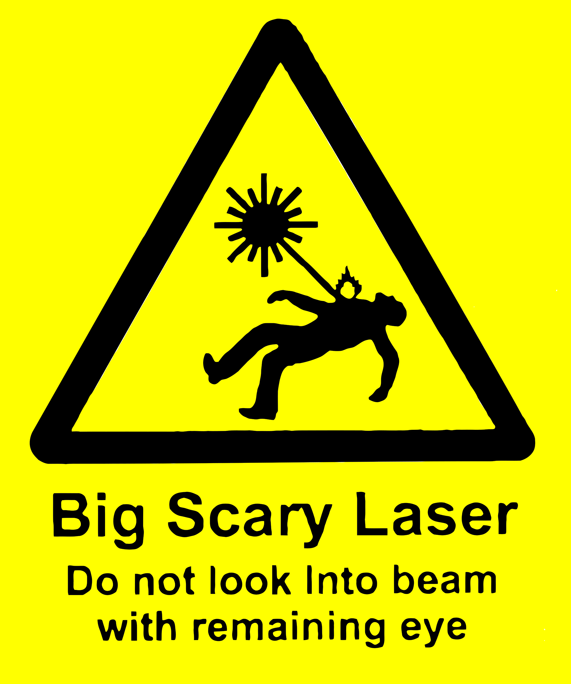 scary laser by wrywry