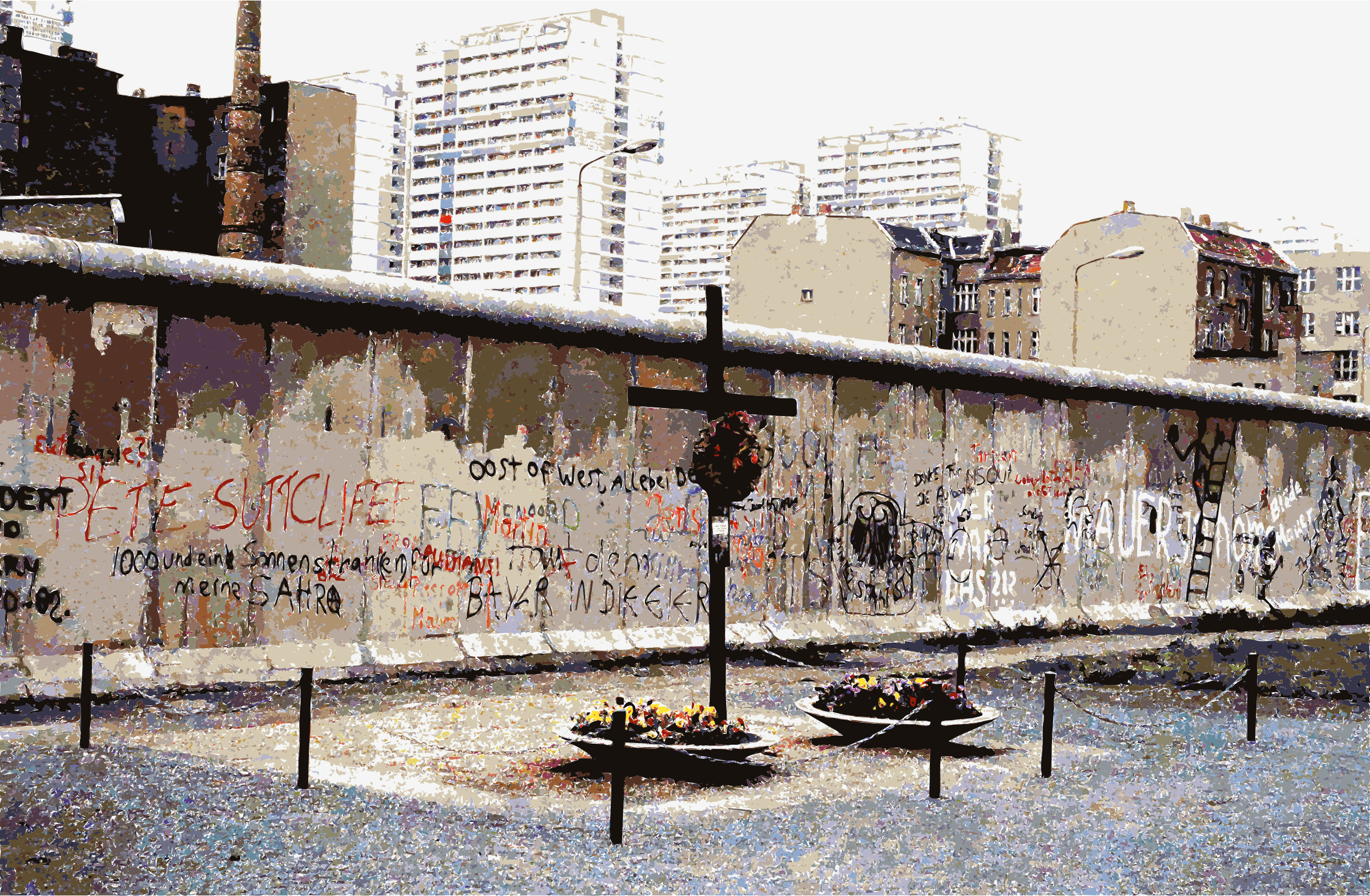 Berlin Wall Peter Fechter Memorial by wallpapergirl