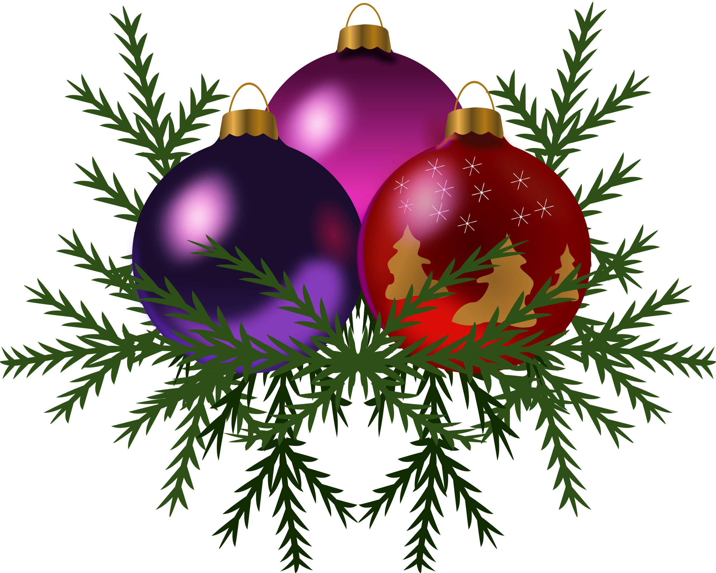 Clipart - Christmas tree toys