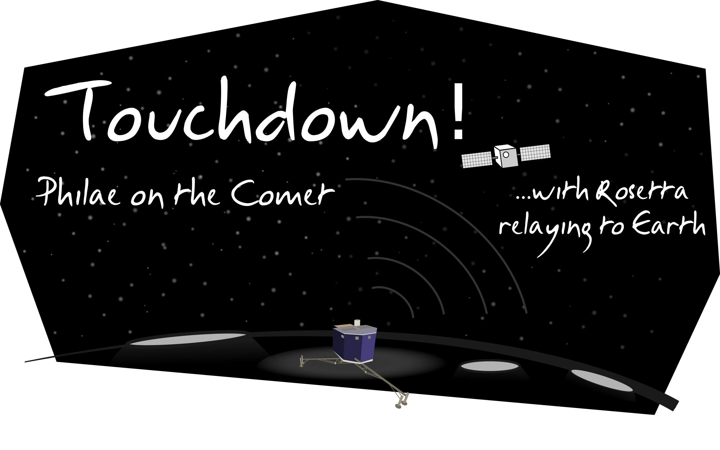Touchdown of Philae by cyberscooty
