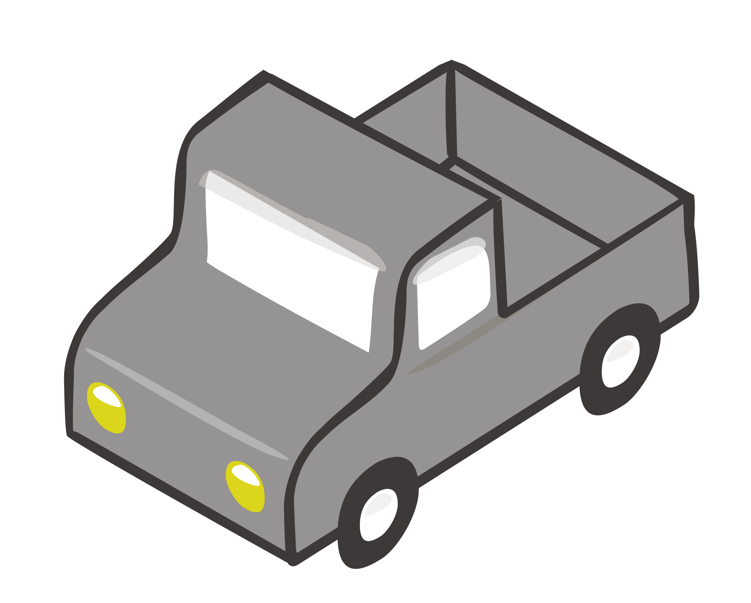Isometric Gray Truck by team.labarna