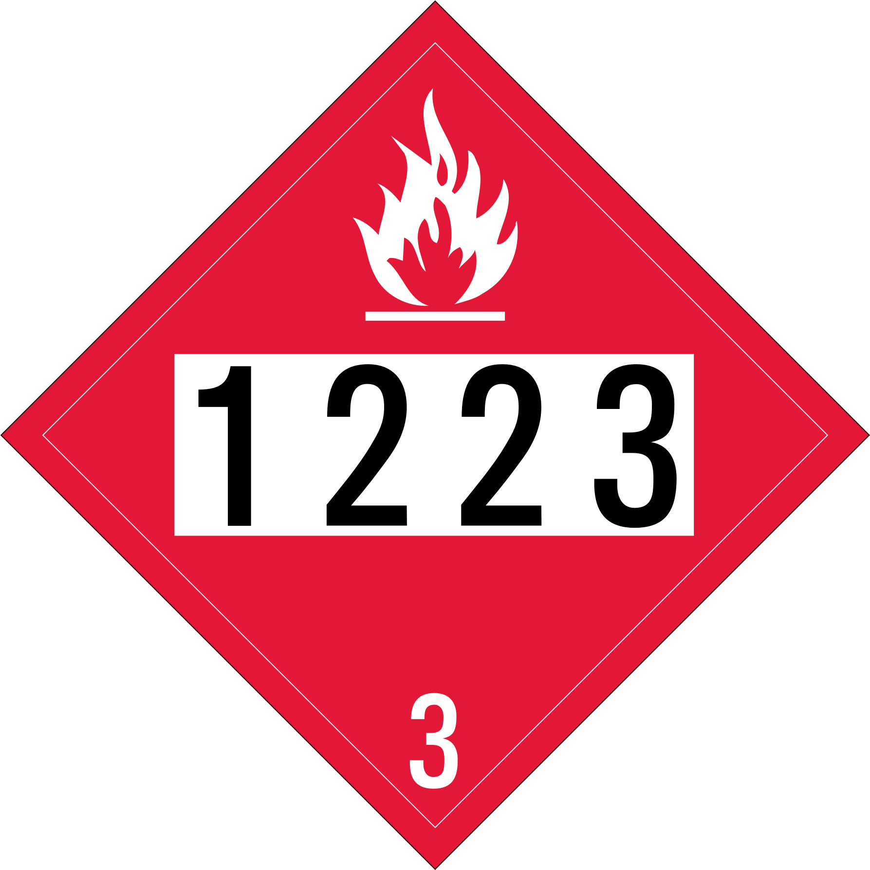 UN 1223 (Kerosene) Flammable Placard (Alpin Gothic CG3) by Fred the Oyster