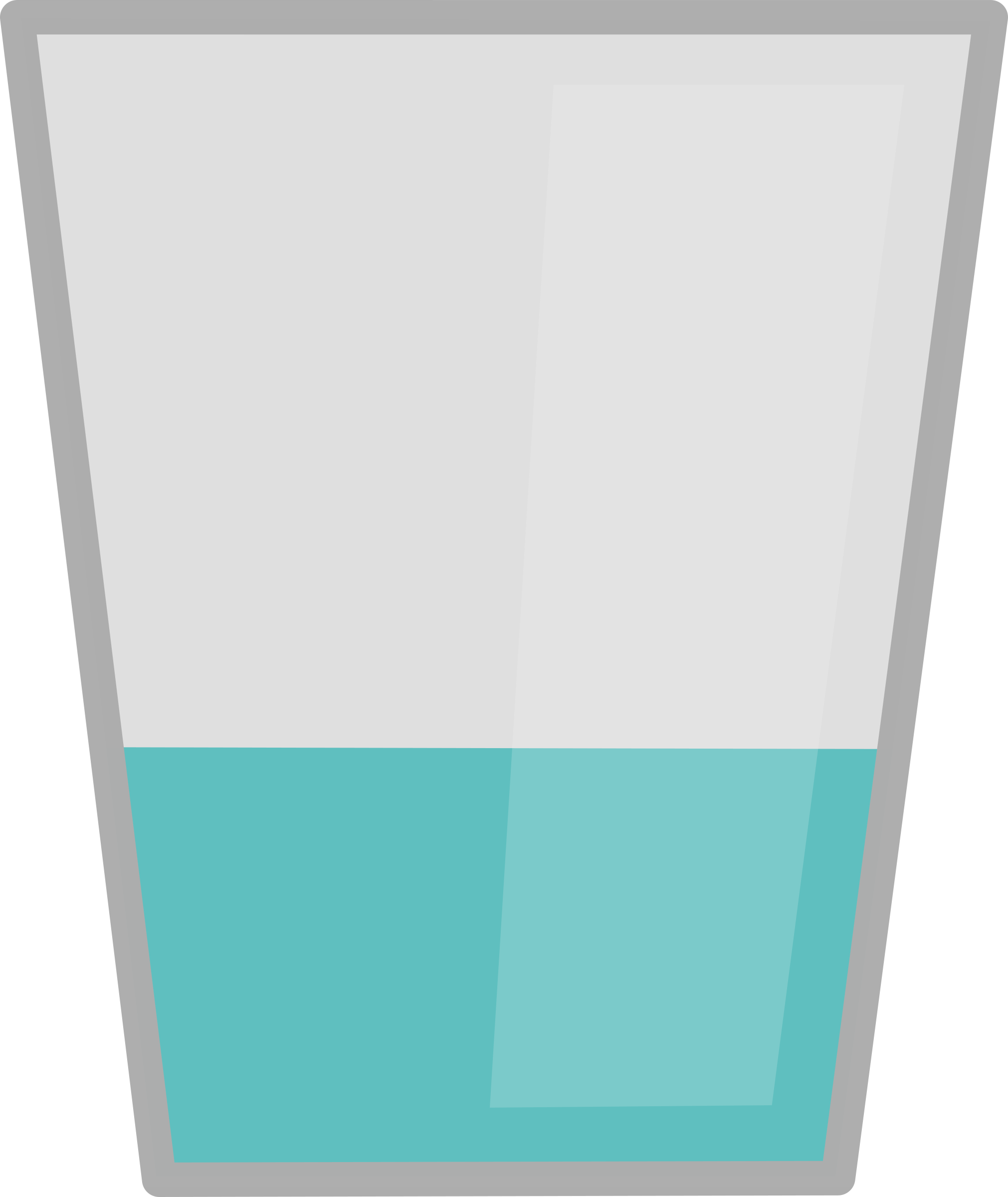 Glass of water by heartwork