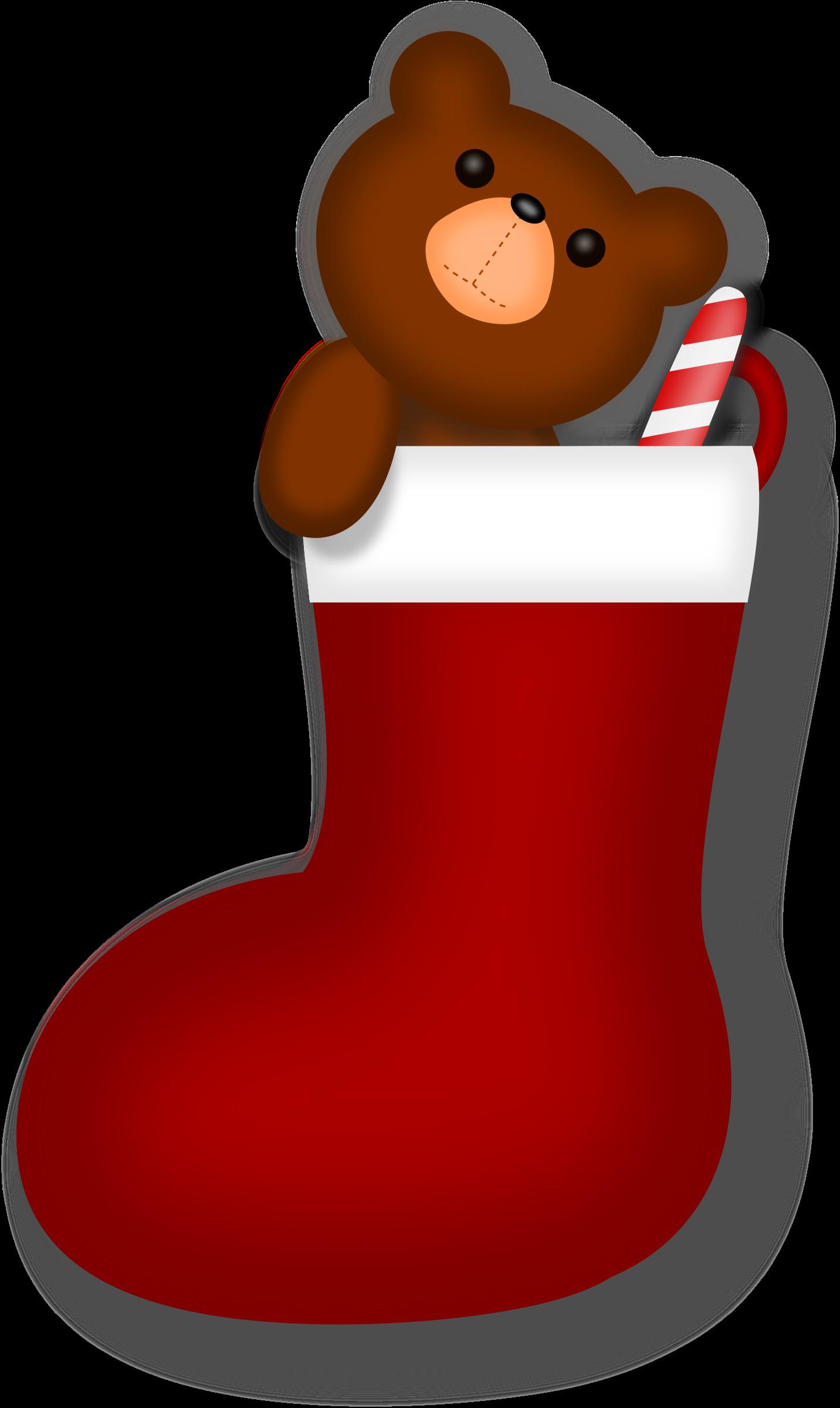 Clipart - Teddy Bear Stocking