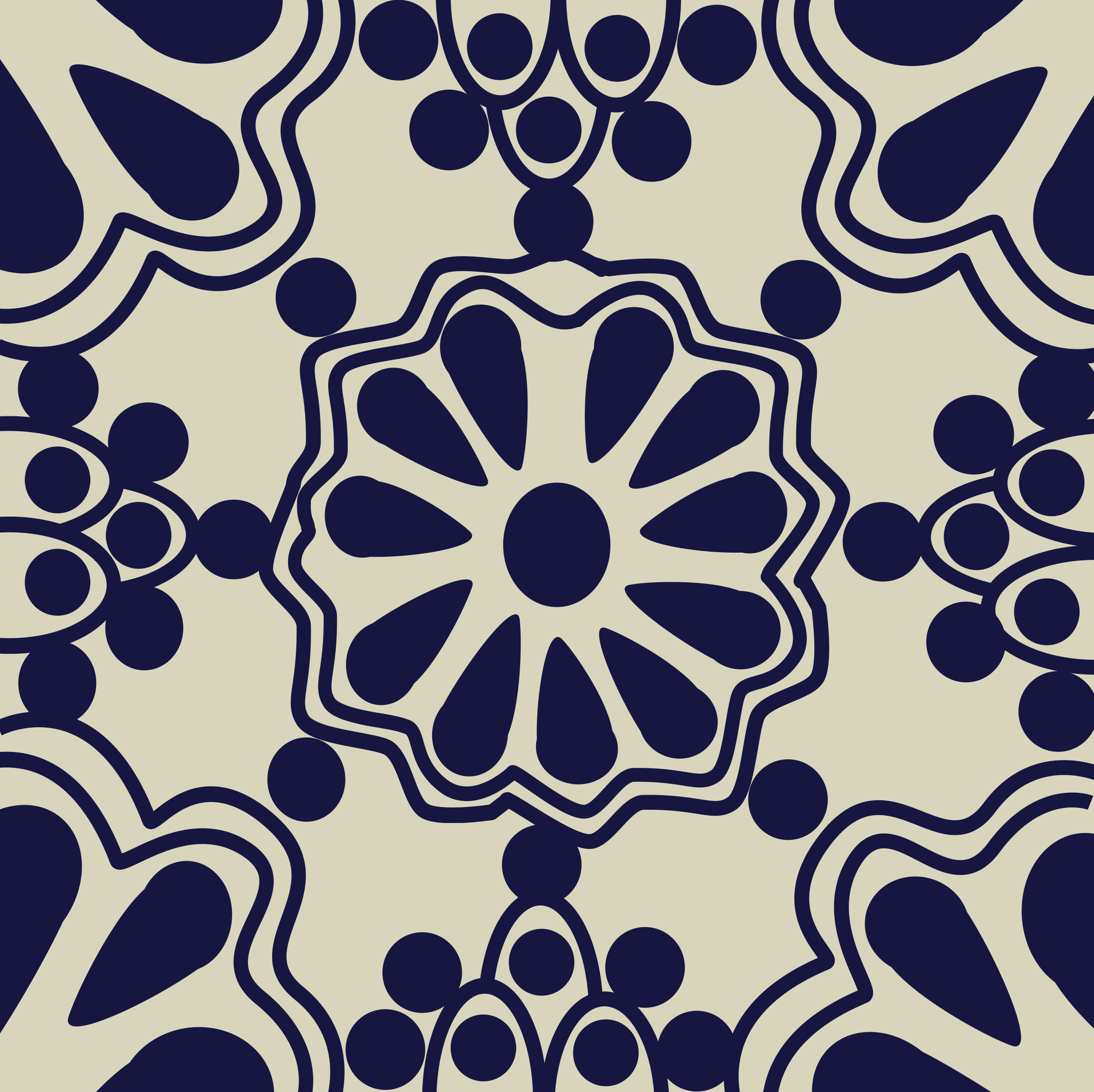 Clipart - Mexican Tile Pattern - B