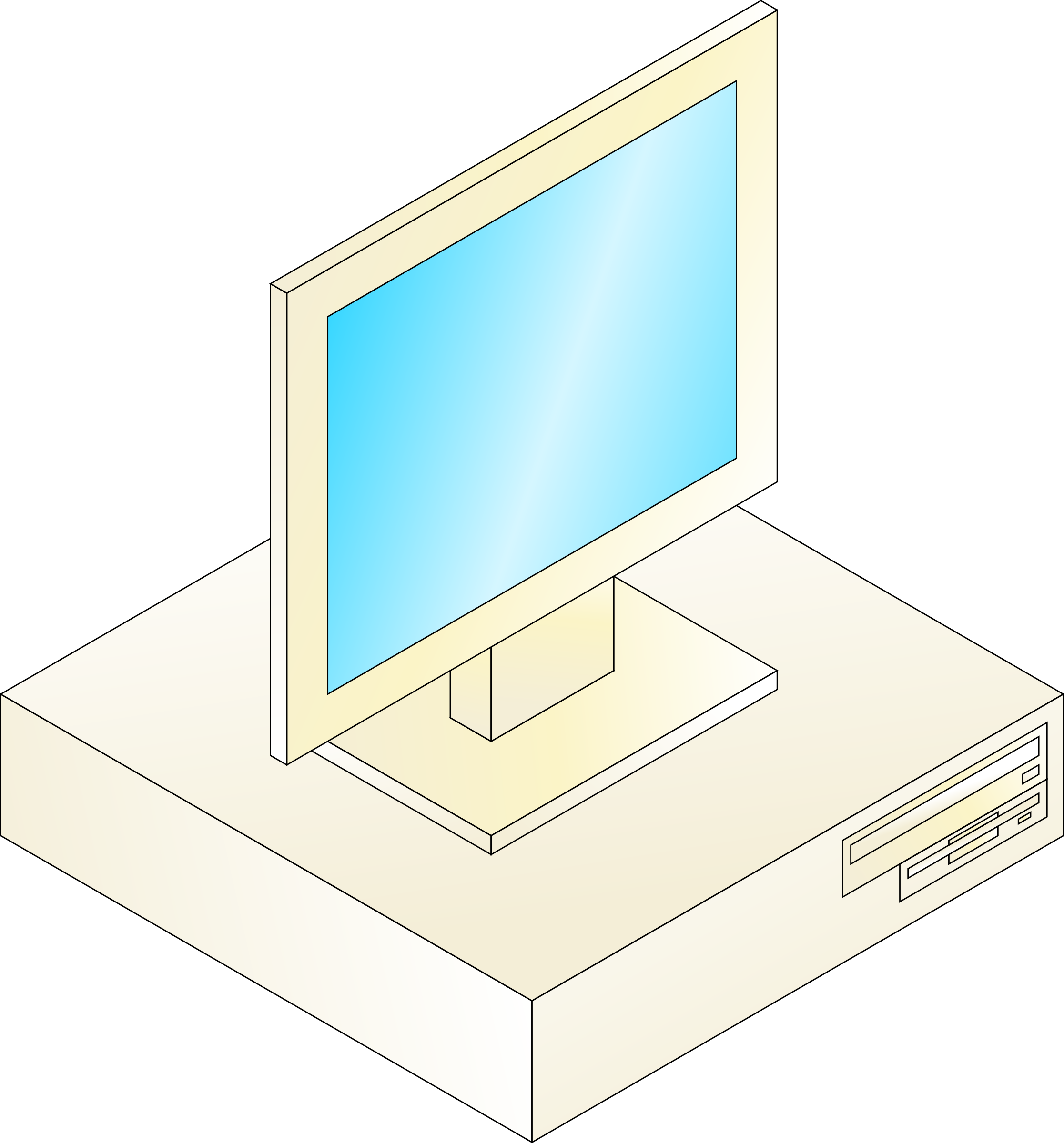 Desktop computer with monitor on top by jhnri4