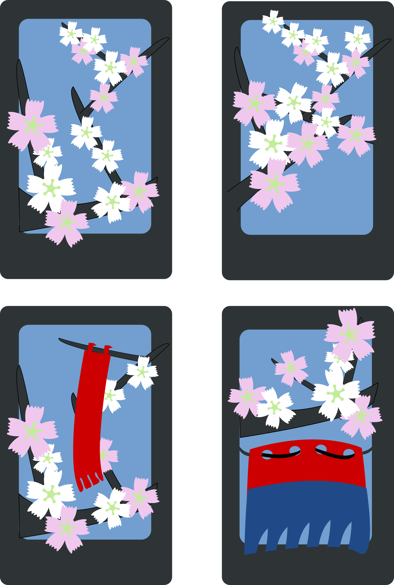 Hanafuda Sakura (March) by rg1024