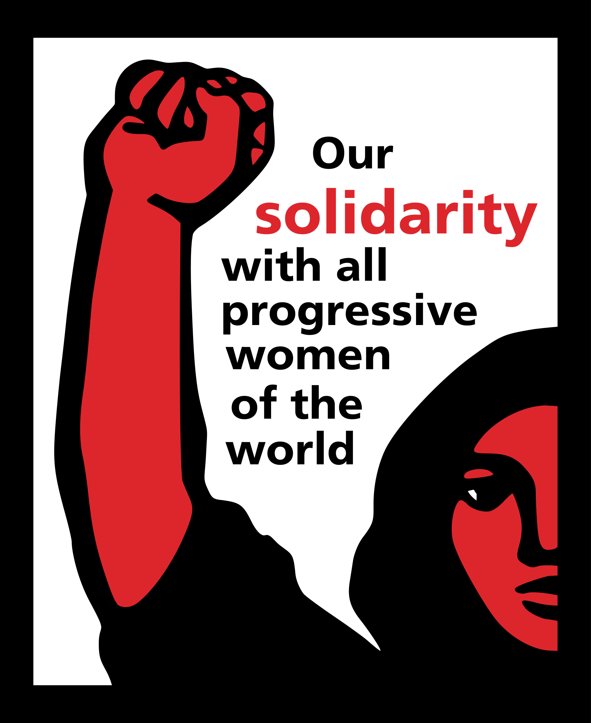 Our solidarity with all progressive women of the world by worker