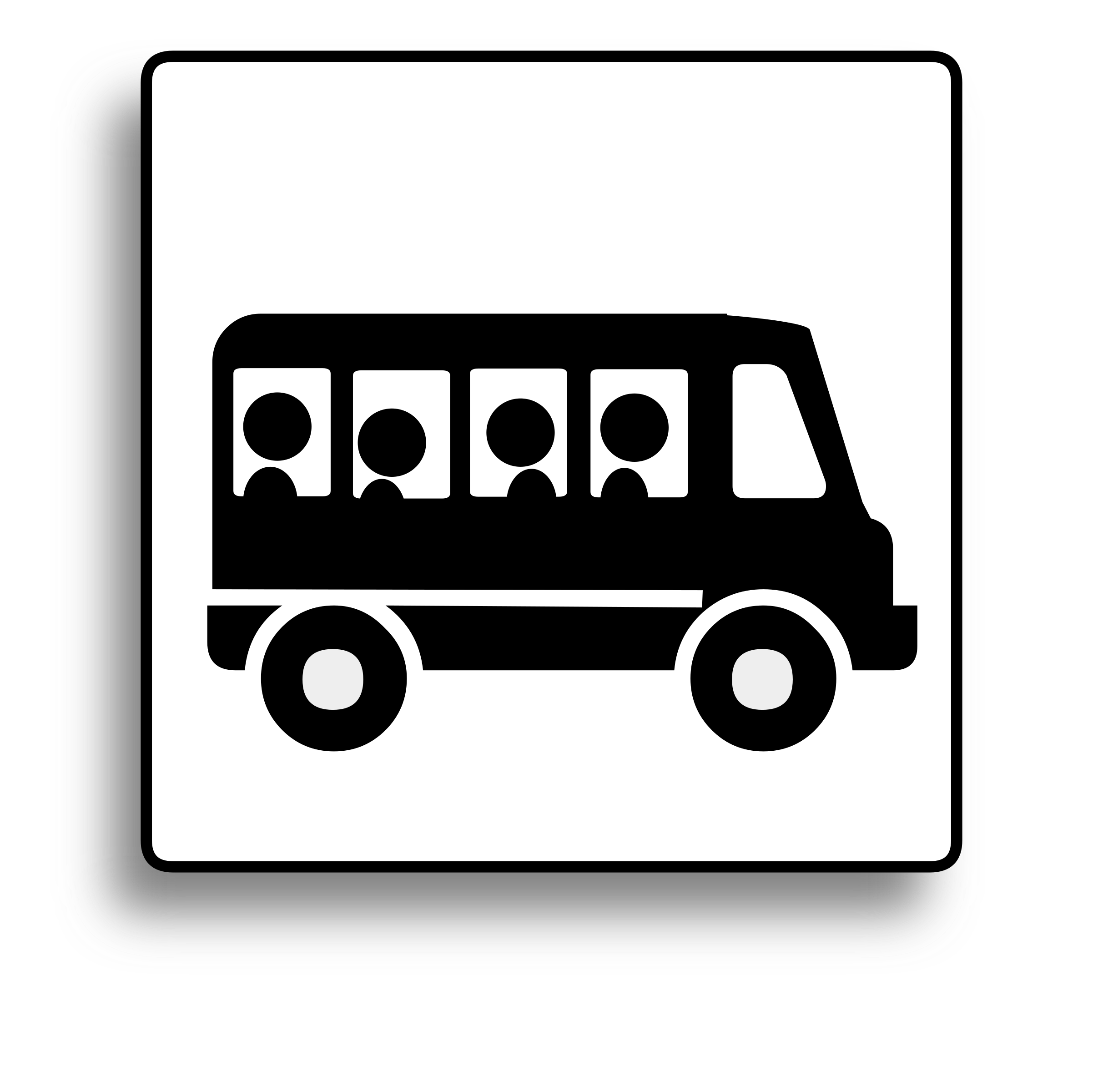 Bus Icon for use with signs or buttons by milovanderlinden