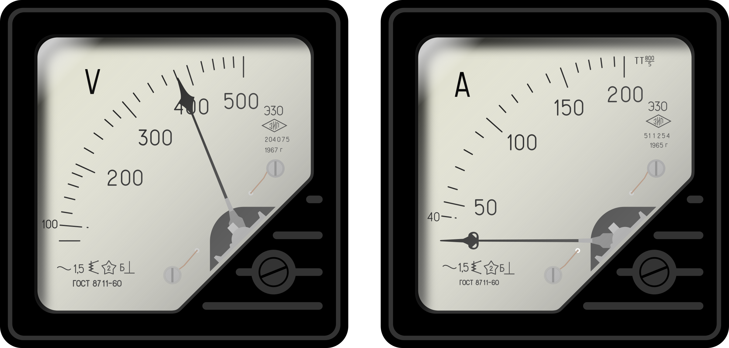 Ammeter And Voltmeter : Clipart voltmeter and ammeter