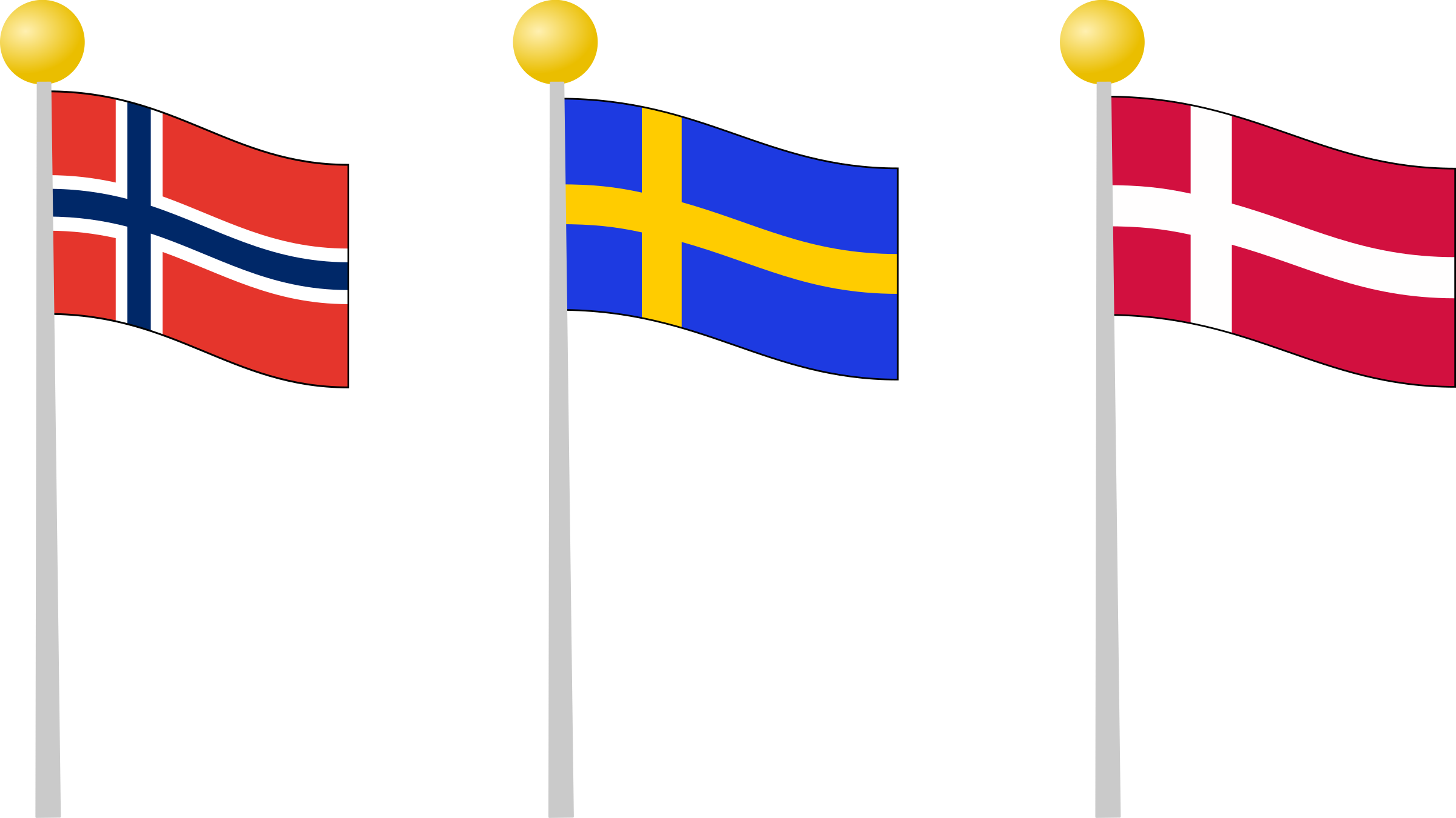 Scandinavia flags by moijn001