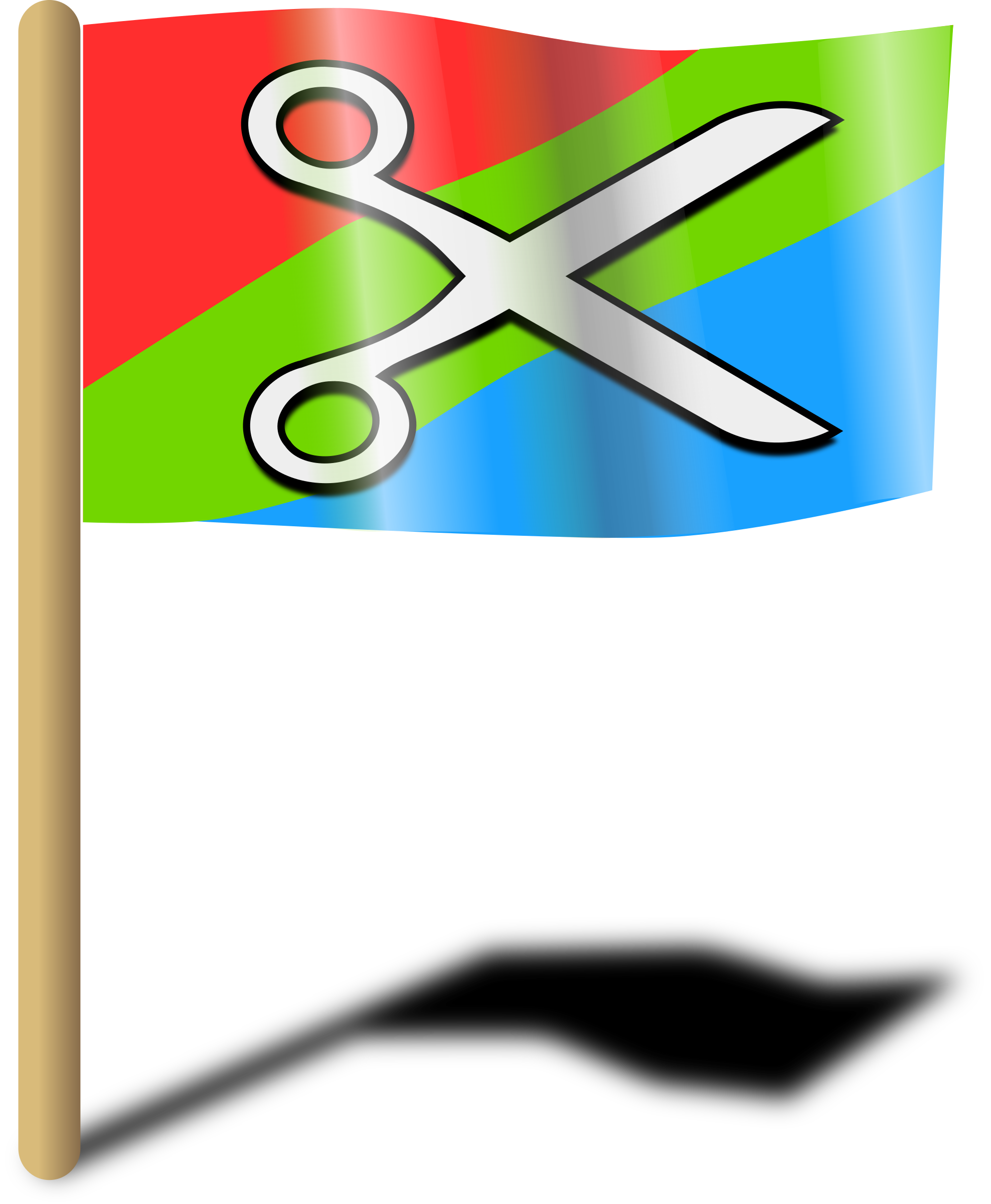 Openclipart Flag by monsterbraingames